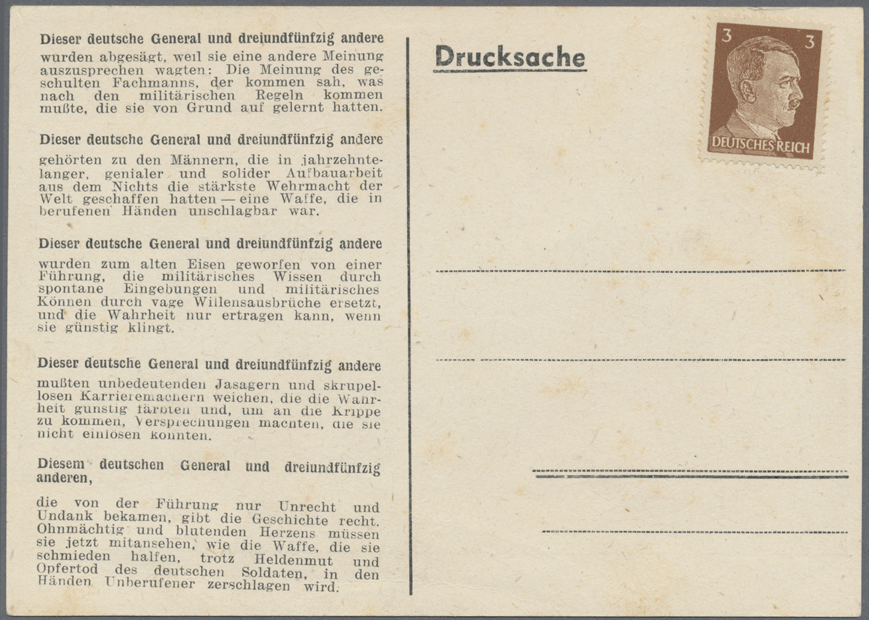 Lot 23606 - Kriegs- und Propagandafälschungen  -  Auktionshaus Christoph Gärtner GmbH & Co. KG Single lots Germany + Picture Postcards. Auction #39 Day 5