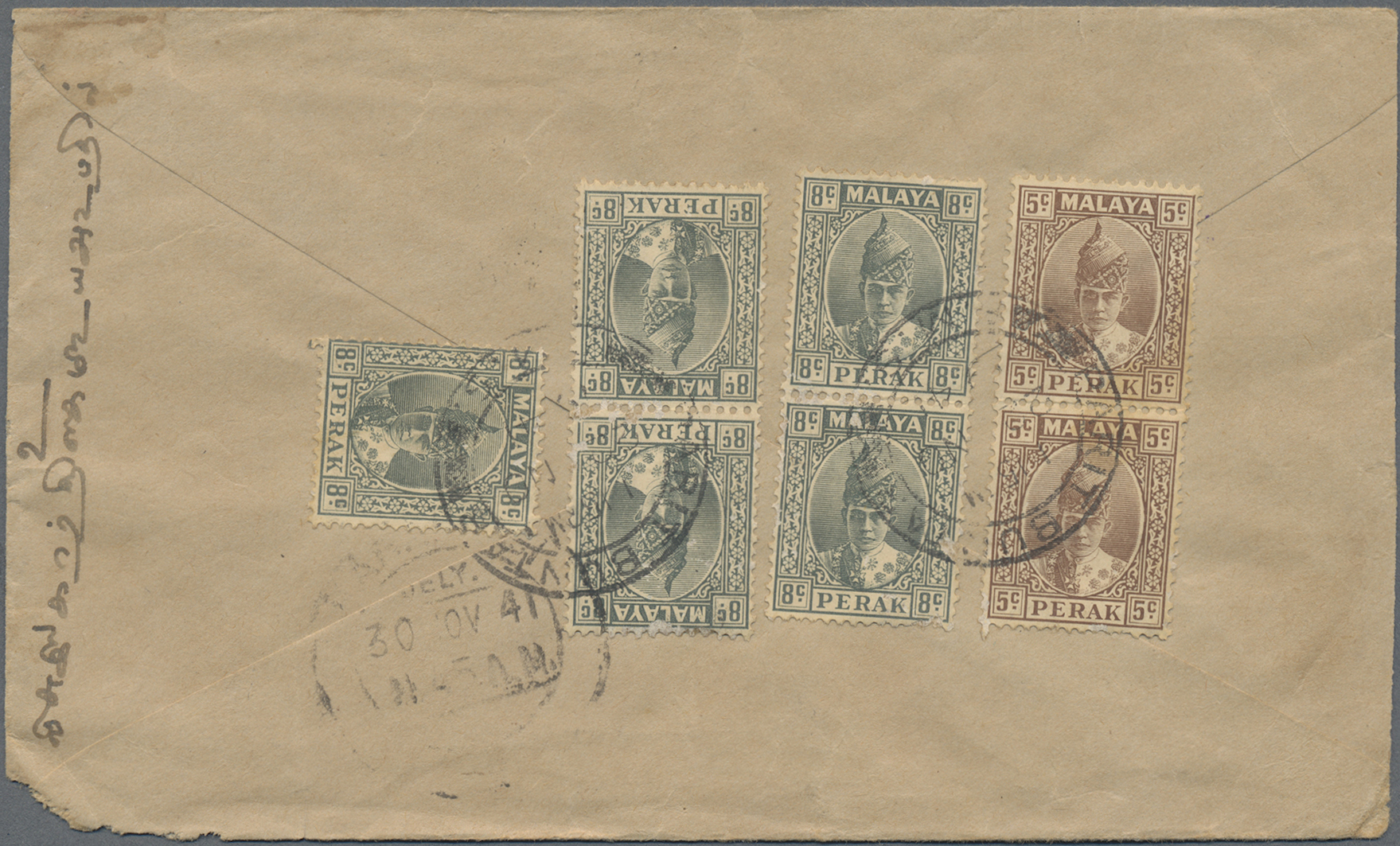 Lot 14016 - Malaiische Staaten - Perak  -  Auktionshaus Christoph Gärtner GmbH & Co. KG Sale #48 collections Overseas  Airmail / Ship mail & Thematics