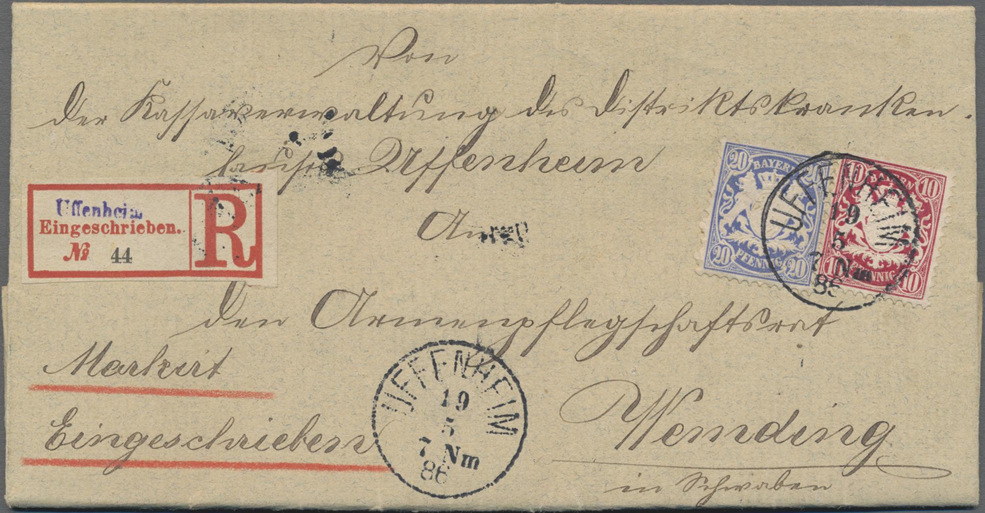Lot 02419 - Bayern - Marken und Briefe  -  Auktionshaus Christoph Gärtner GmbH & Co. KG 50th Auction Anniversary Auction - Day 7