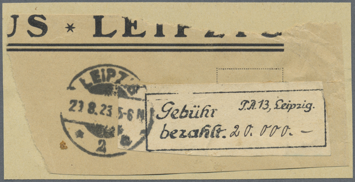 Lot 37070 - Deutsches Reich - Lokalausgaben 1918/23  -  Auktionshaus Christoph Gärtner GmbH & Co. KG Collections Germany,  Collections Supplement, Surprise boxes #39 Day 7