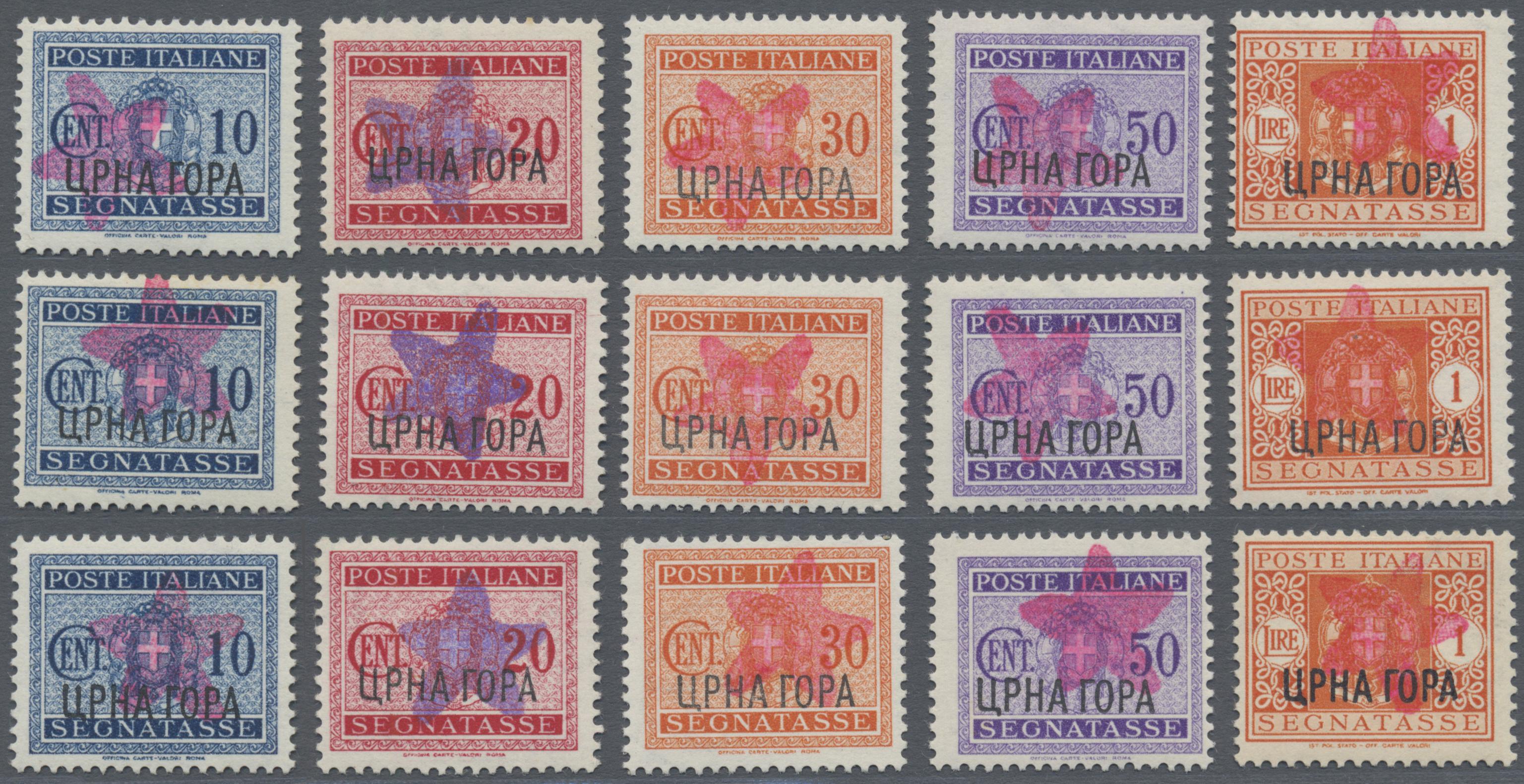Lot 1030 - Italienische Besetzung 1941/43 - Montenegro - Portomarken  -  Auktionshaus Christoph Gärtner GmbH & Co. KG Auction #41 Special auction part one