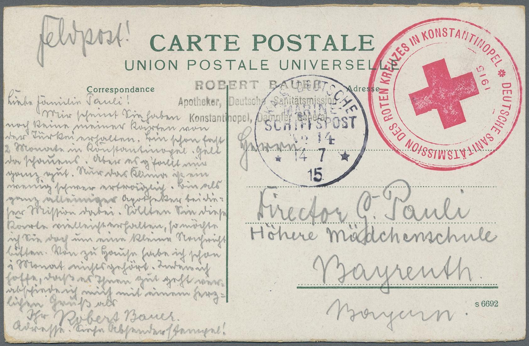 Lot 36929 - Deutsche Post in der Türkei - Stempel  -  Auktionshaus Christoph Gärtner GmbH & Co. KG Sale #44 Collections Germany