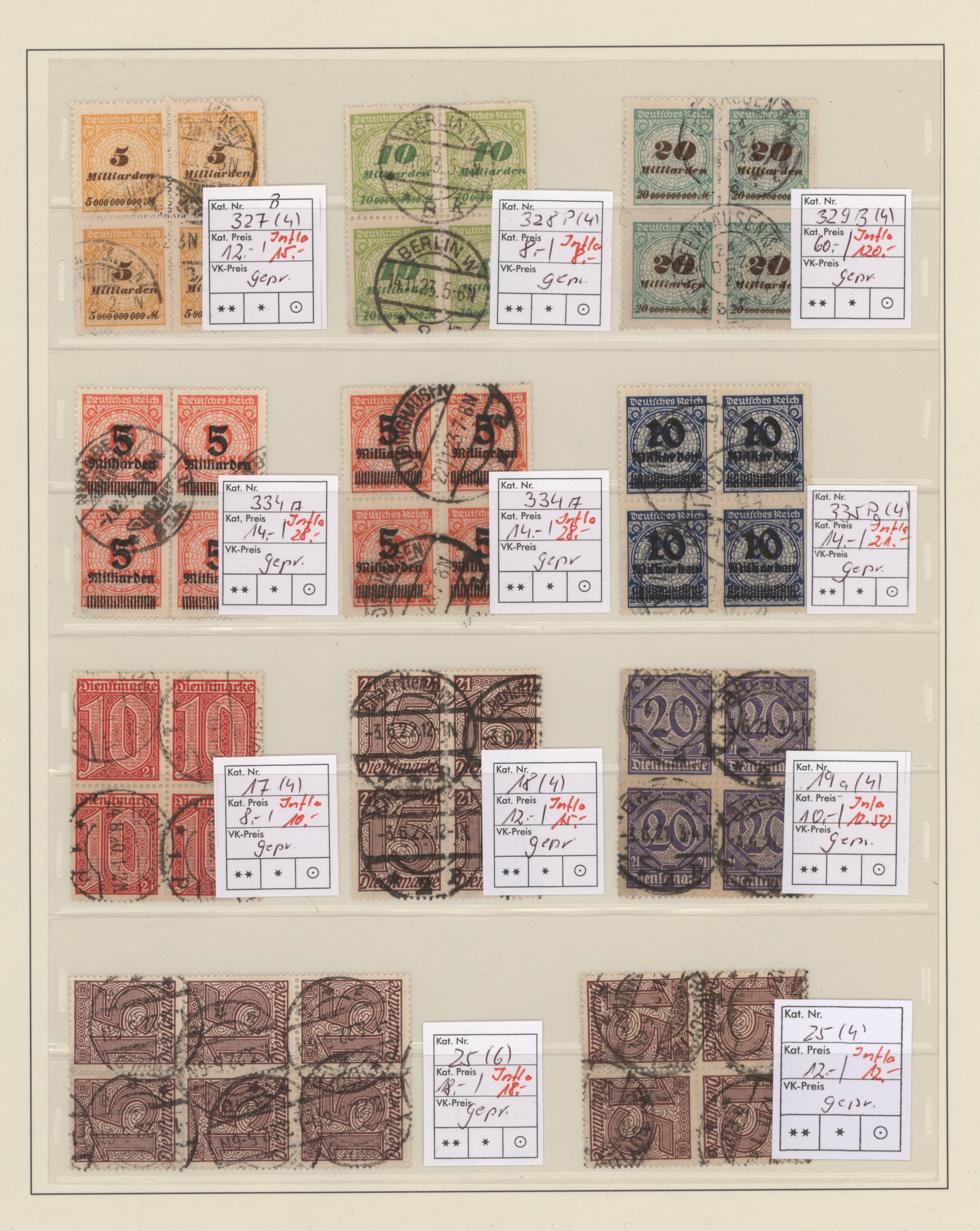 Lot 20587 - Deutsches Reich - Inflation  -  Auktionshaus Christoph Gärtner GmbH & Co. KG Sale #48 Estates, supplement Germany before & after 1945