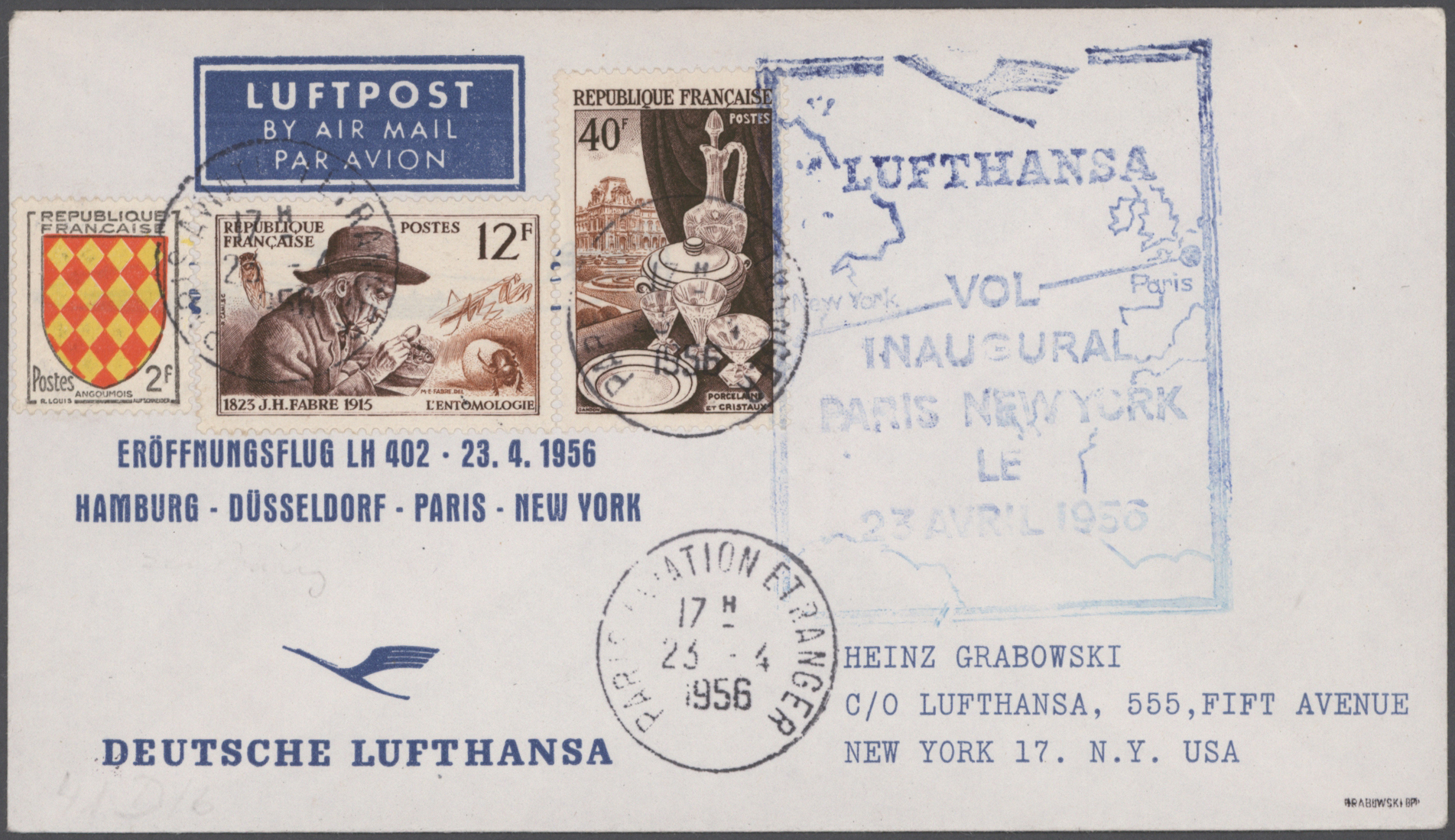 Lot 15169 - flugpost alle welt  -  Auktionshaus Christoph Gärtner GmbH & Co. KG Sale #48 collections Overseas  Airmail / Ship mail & Thematics