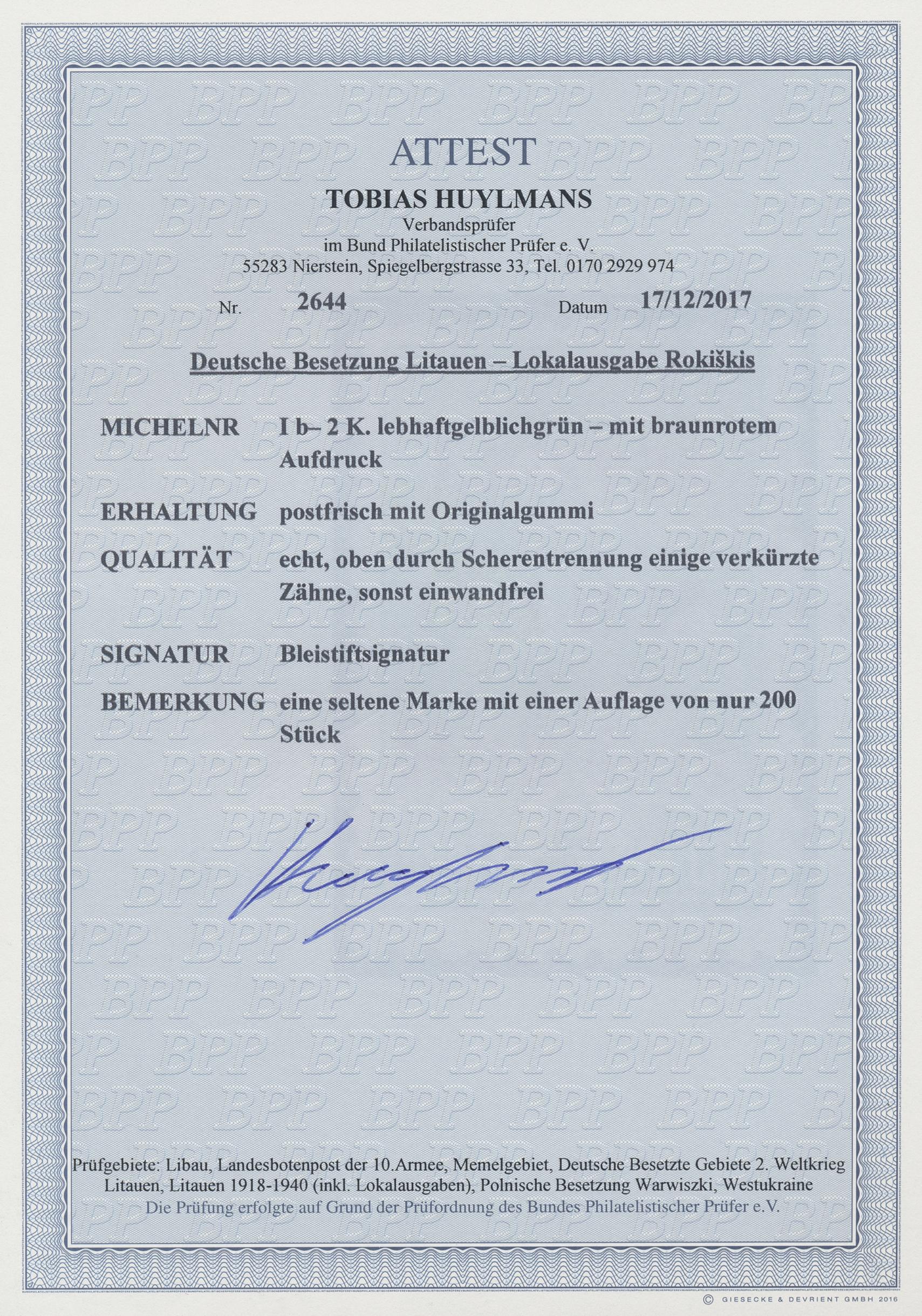 Lot 19462 - Dt. Besetzung II WK - Litauen - Rakischki (Rokiskis)  -  Auktionshaus Christoph Gärtner GmbH & Co. KG Auction #40 Germany, Picture Post Cards, Collections Overseas, Thematics