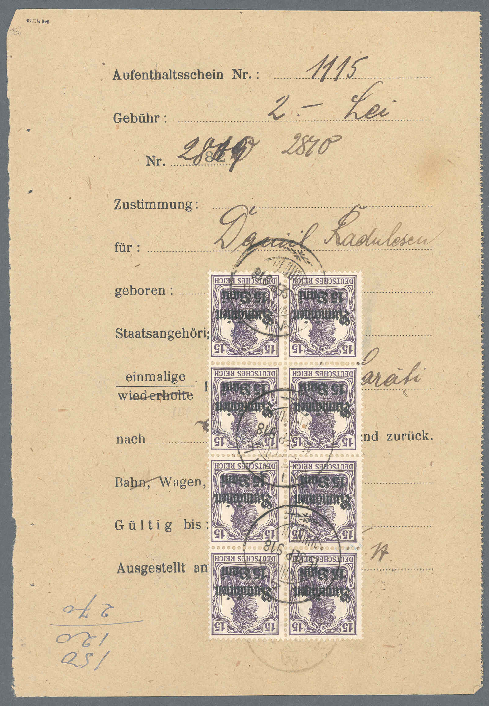 Lot 11522 - Deutsche Besetzung I. WK: Postgebiet Ober. Ost  -  Auktionshaus Christoph Gärtner GmbH & Co. KG Sale #48 The Single Lots Philatelie