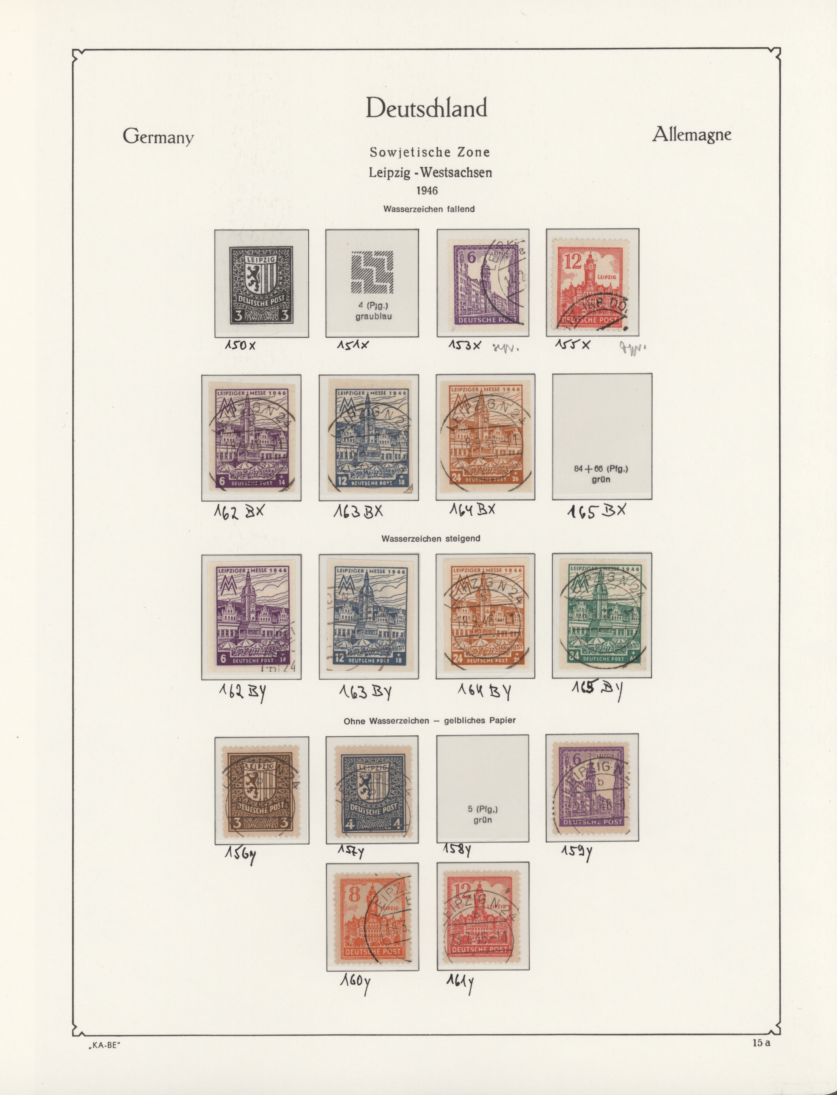 Lot 15200 - sowjetische zone  -  Auktionshaus Christoph Gärtner GmbH & Co. KG 51th Auction - Day 5