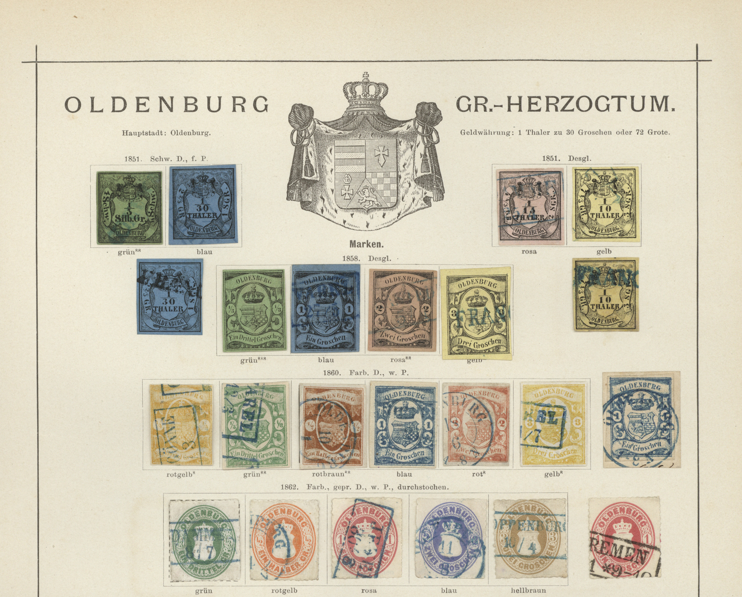 Lot 36266 - Oldenburg - Marken und Briefe  -  Auktionshaus Christoph Gärtner GmbH & Co. KG Sale #44 Collections Germany