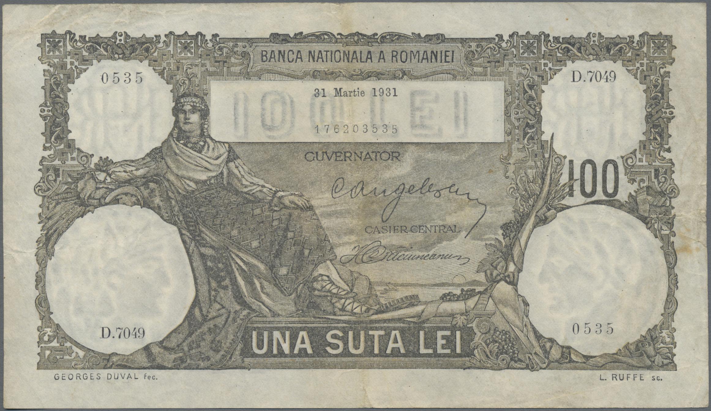 Lot 00616 - Romania / Rumänien   Banknoten  -  Auktionshaus Christoph Gärtner GmbH & Co. KG Sale #48 The Banknotes