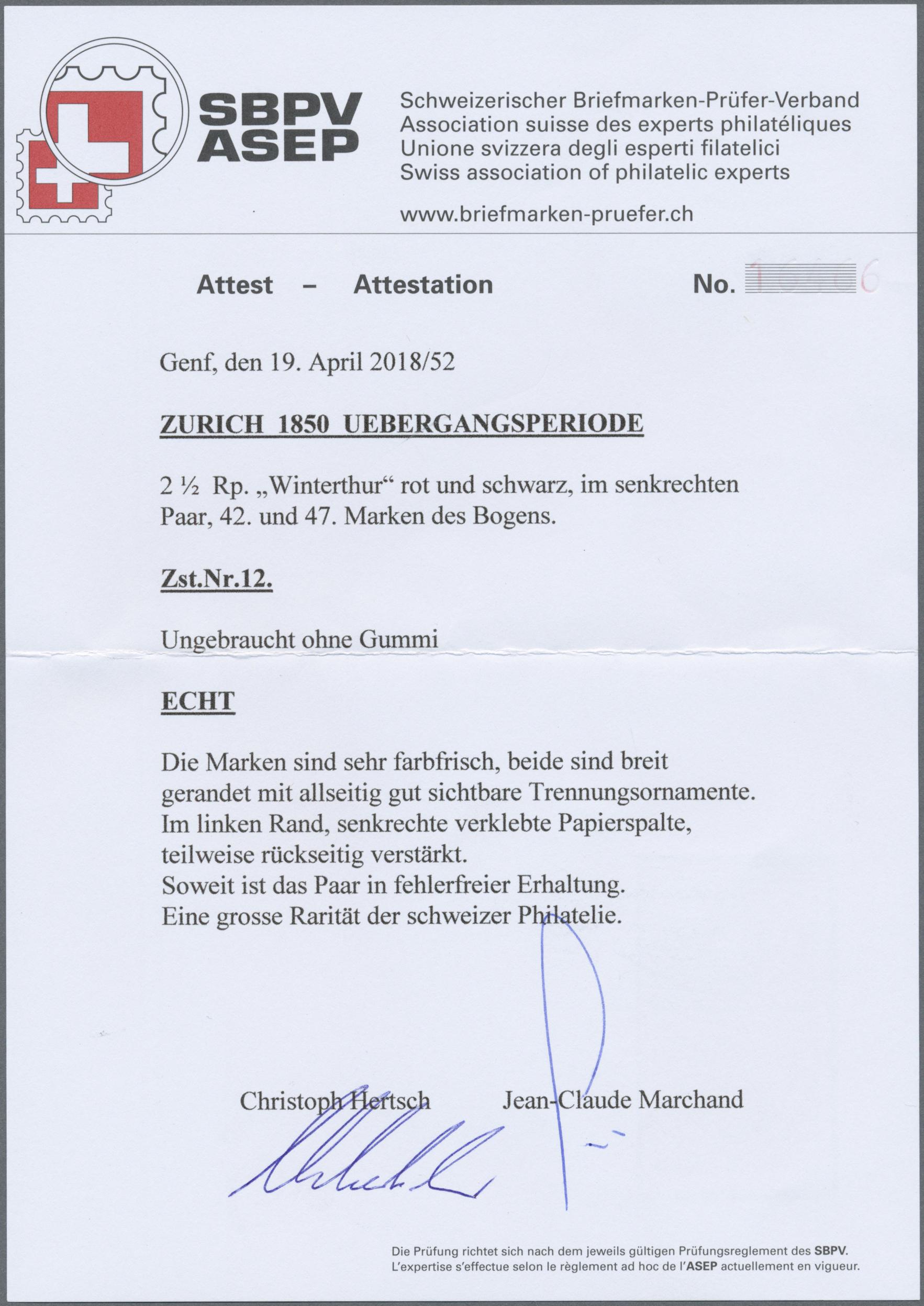 Lot 1617 - schweiz  -  Auktionshaus Christoph Gärtner GmbH & Co. KG Auction #41 Special auction part two