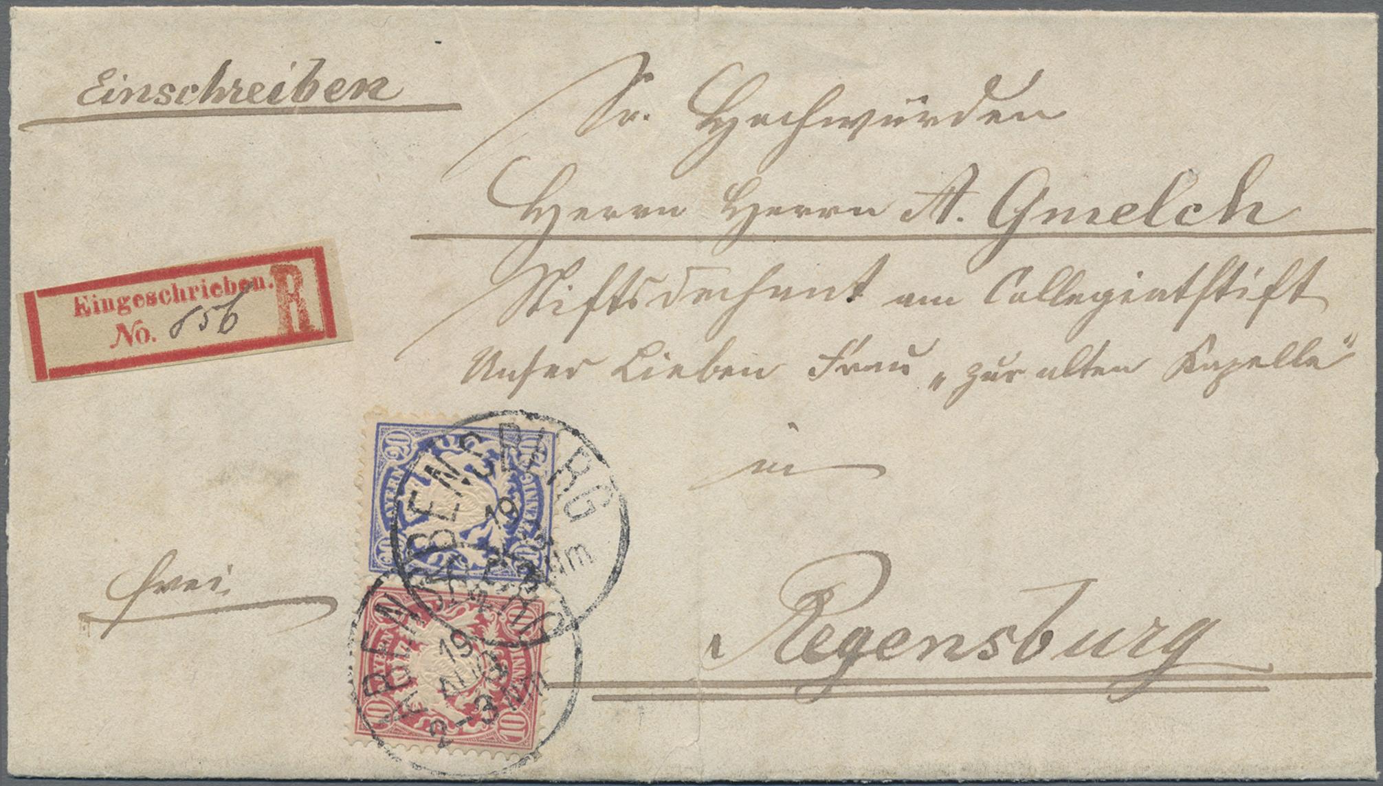 Lot 02414 - Bayern - Marken und Briefe  -  Auktionshaus Christoph Gärtner GmbH & Co. KG 50th Auction Anniversary Auction - Day 7