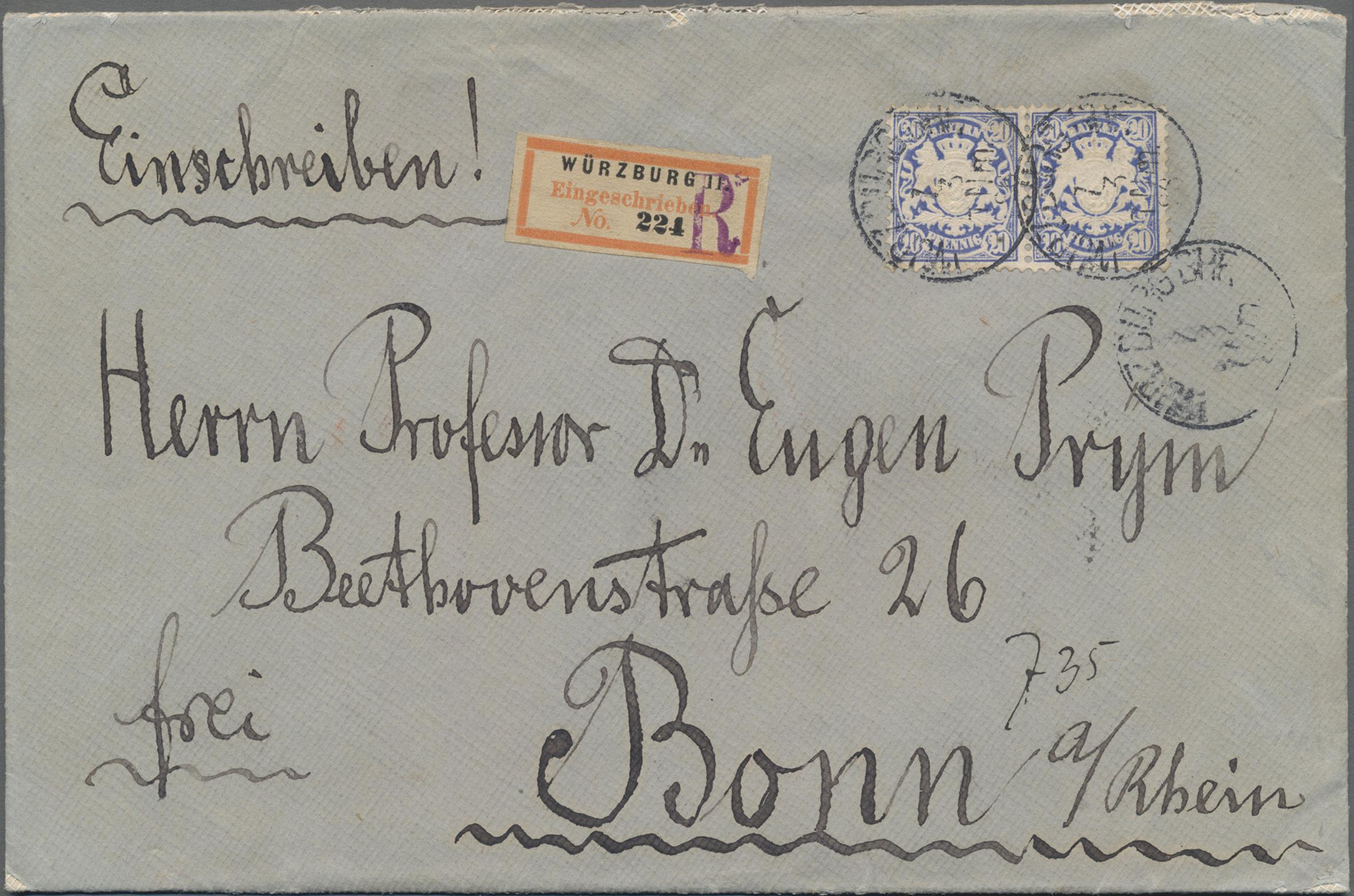 Lot 02422 - Bayern - Marken und Briefe  -  Auktionshaus Christoph Gärtner GmbH & Co. KG 50th Auction Anniversary Auction - Day 7