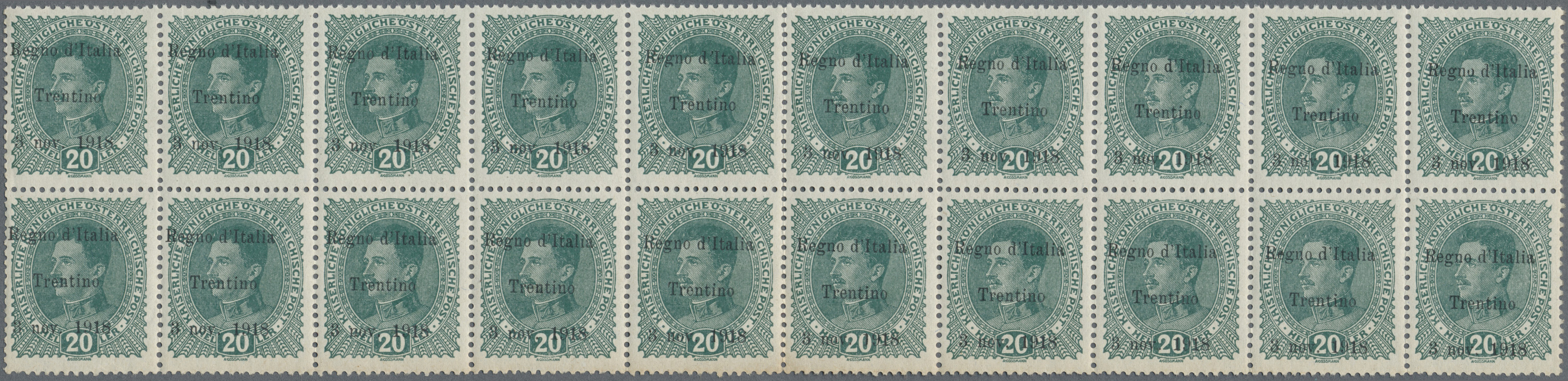 Lot 1009 - Italienische Besetzung 1918/23 - Trentino  -  Auktionshaus Christoph Gärtner GmbH & Co. KG Auction #41 Special auction part one