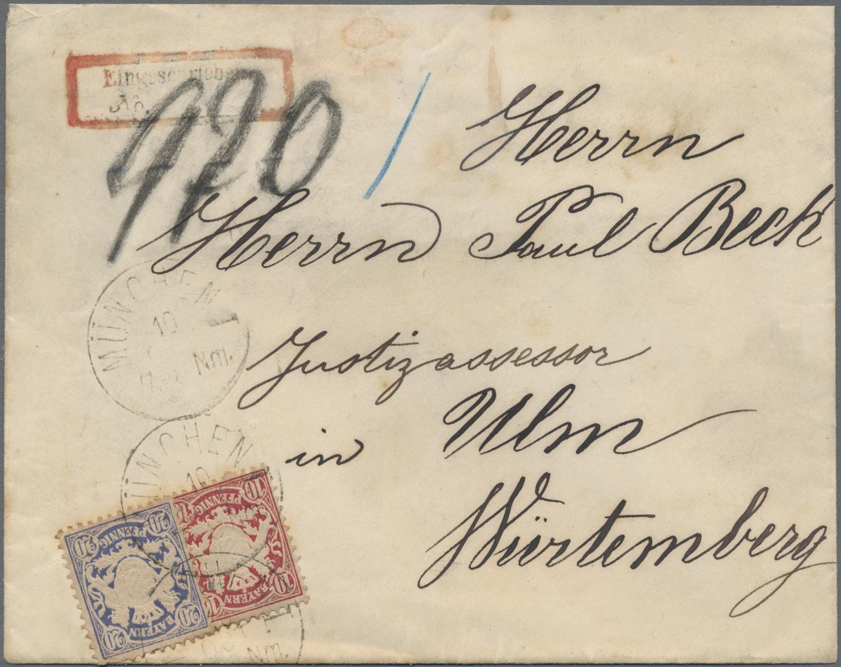 Lot 02397 - Bayern - Marken und Briefe  -  Auktionshaus Christoph Gärtner GmbH & Co. KG 50th Auction Anniversary Auction - Day 7