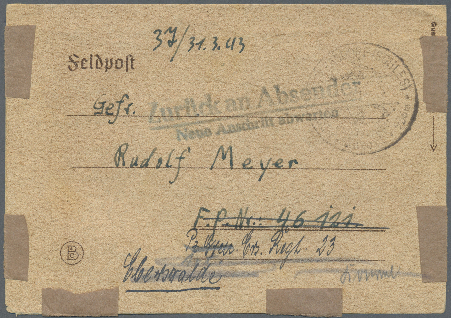 Lot 37583 - feldpost 2. weltkrieg  -  Auktionshaus Christoph Gärtner GmbH & Co. KG Collections Germany,  Collections Supplement, Surprise boxes #39 Day 7