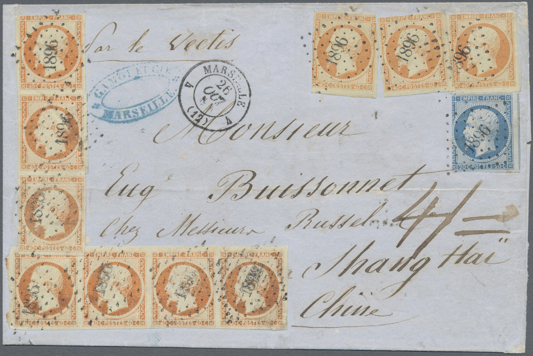 Lot 321 - China - Incoming Mail  -  Auktionshaus Christoph Gärtner GmbH & Co. KG Auction #41 Special auction part one
