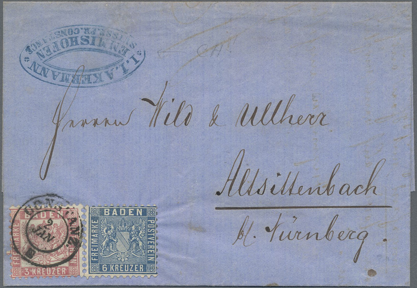 Lot 13506 - Baden - Marken und Briefe  -  Auktionshaus Christoph Gärtner GmbH & Co. KG Sale #46 Single lots Germany - and picture post cards