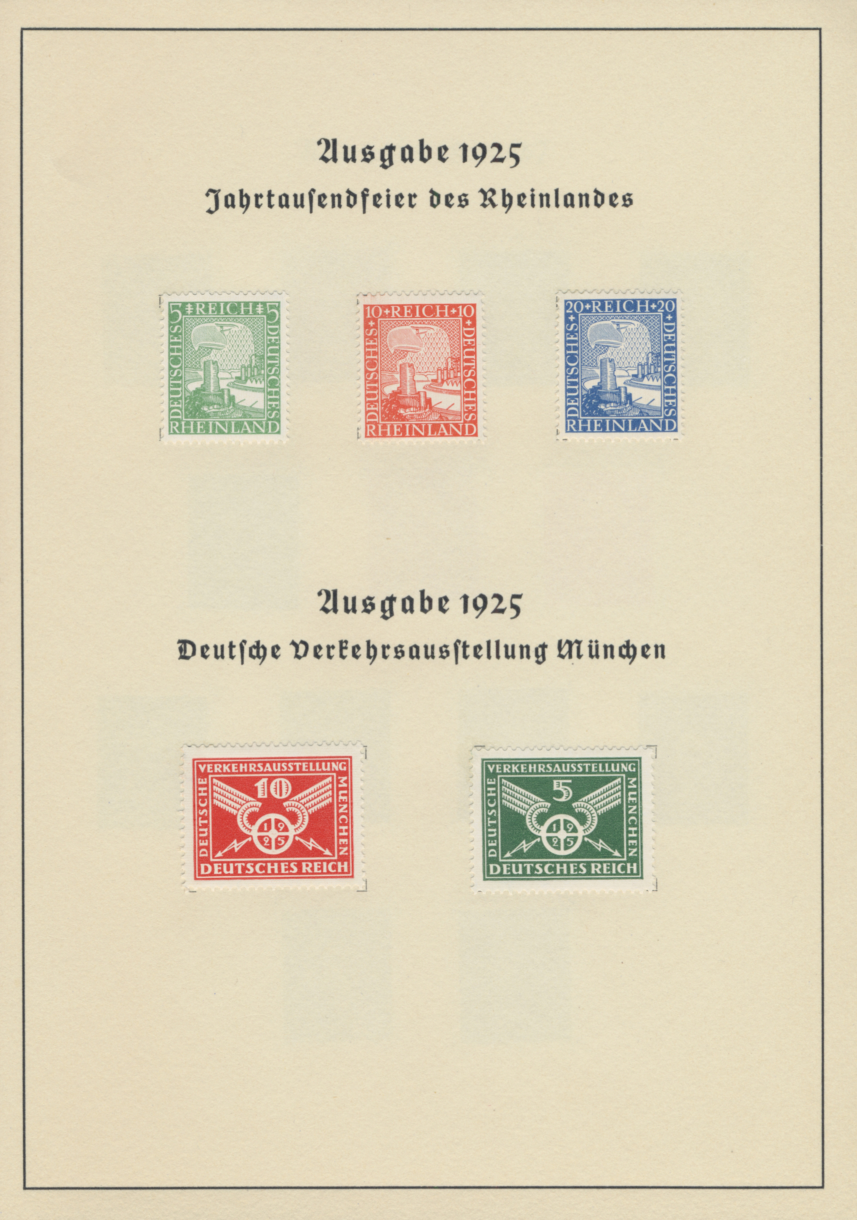 Lot 1275 - Deutsches Reich - Weimar  -  Auktionshaus Christoph Gärtner GmbH & Co. KG Auction #41 Special auction part two