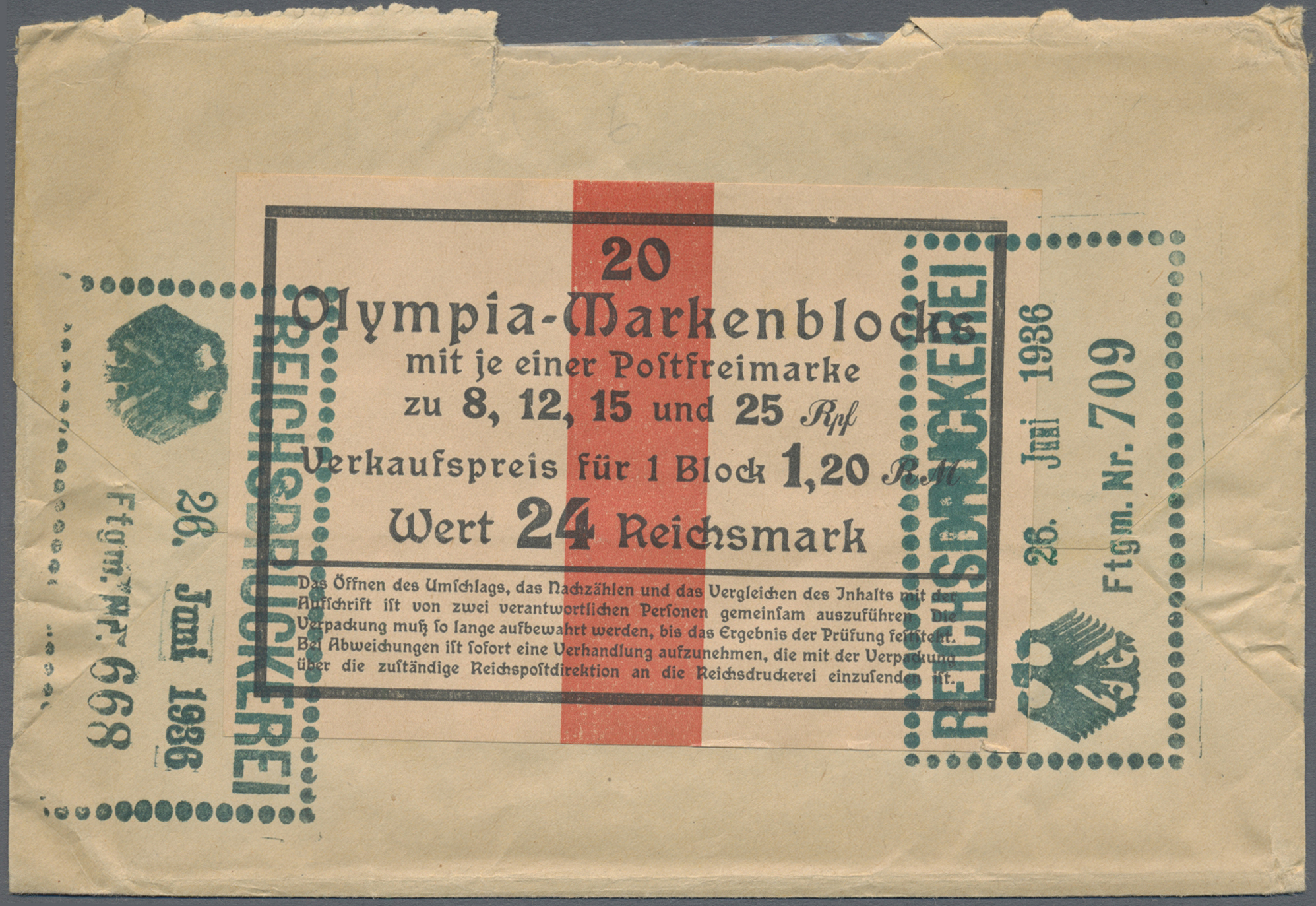 Lot 1277 - Deutsches Reich - 3. Reich  -  Auktionshaus Christoph Gärtner GmbH & Co. KG Auction #41 Special auction part two
