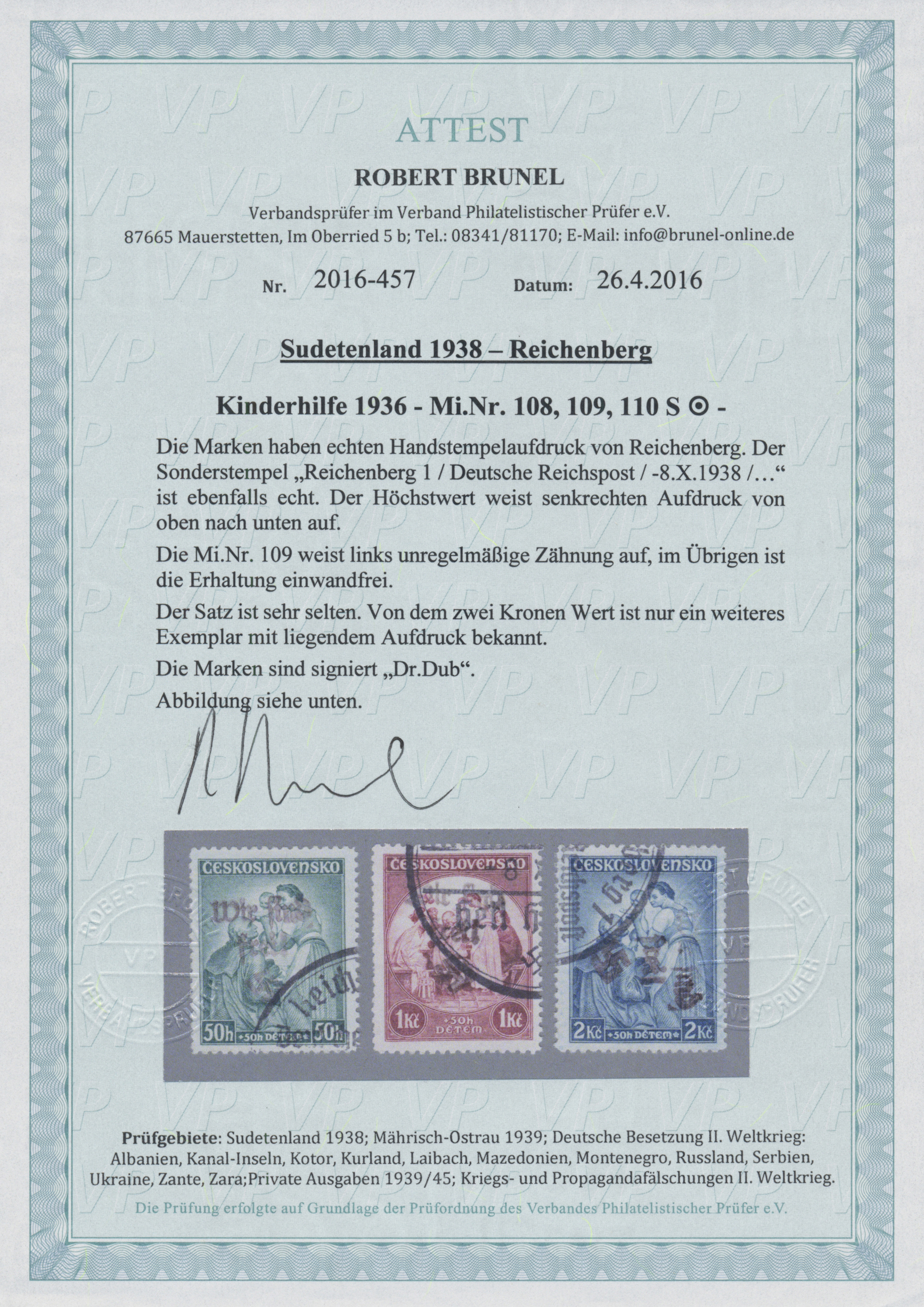 Lot 1370 - Sudetenland - Reichenberg  -  Auktionshaus Christoph Gärtner GmbH & Co. KG Auction #41 Special auction part two