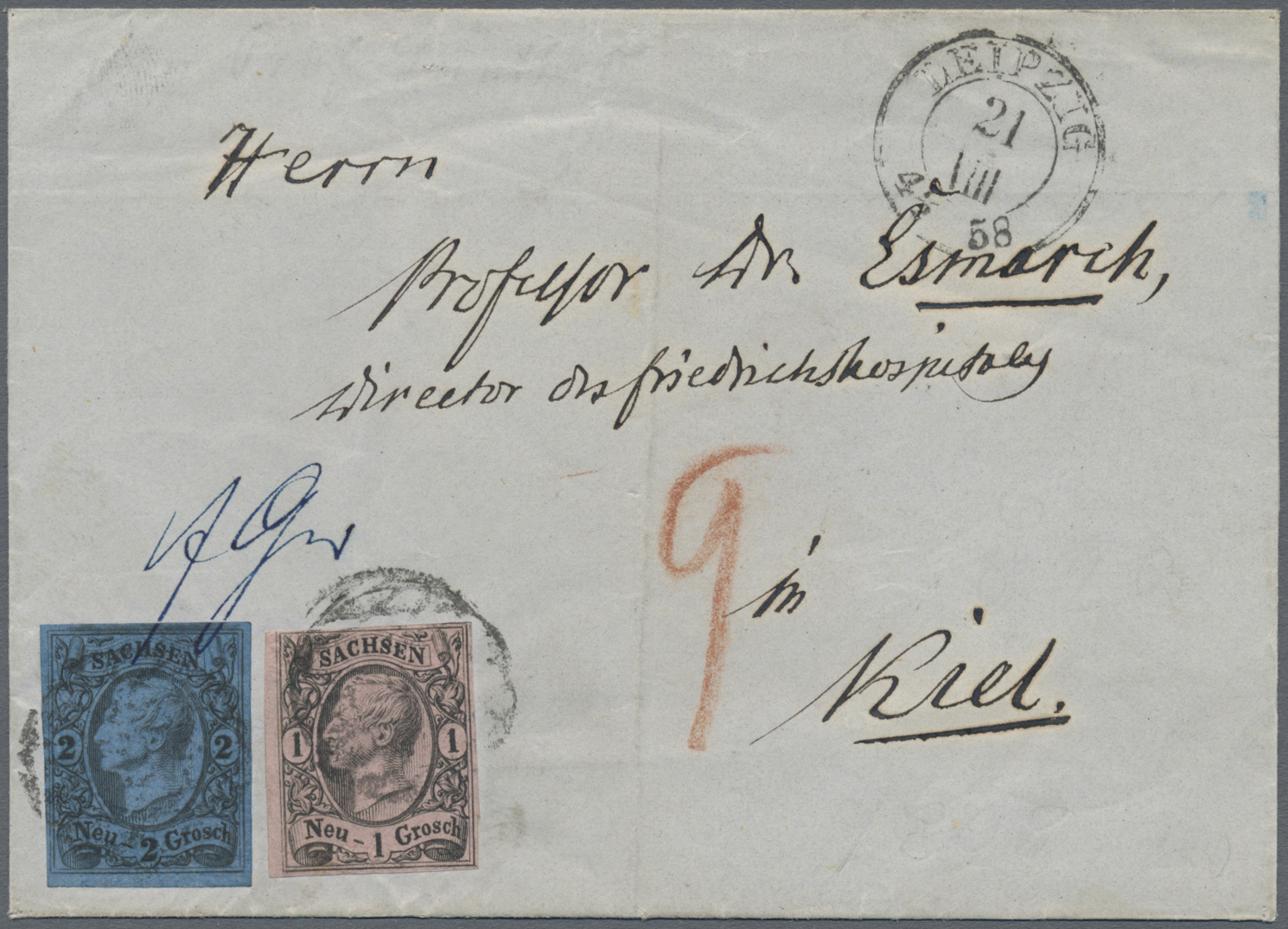 Lot 1240 - Sachsen - Marken und Briefe  -  Auktionshaus Christoph Gärtner GmbH & Co. KG Auction #41 Special auction part two