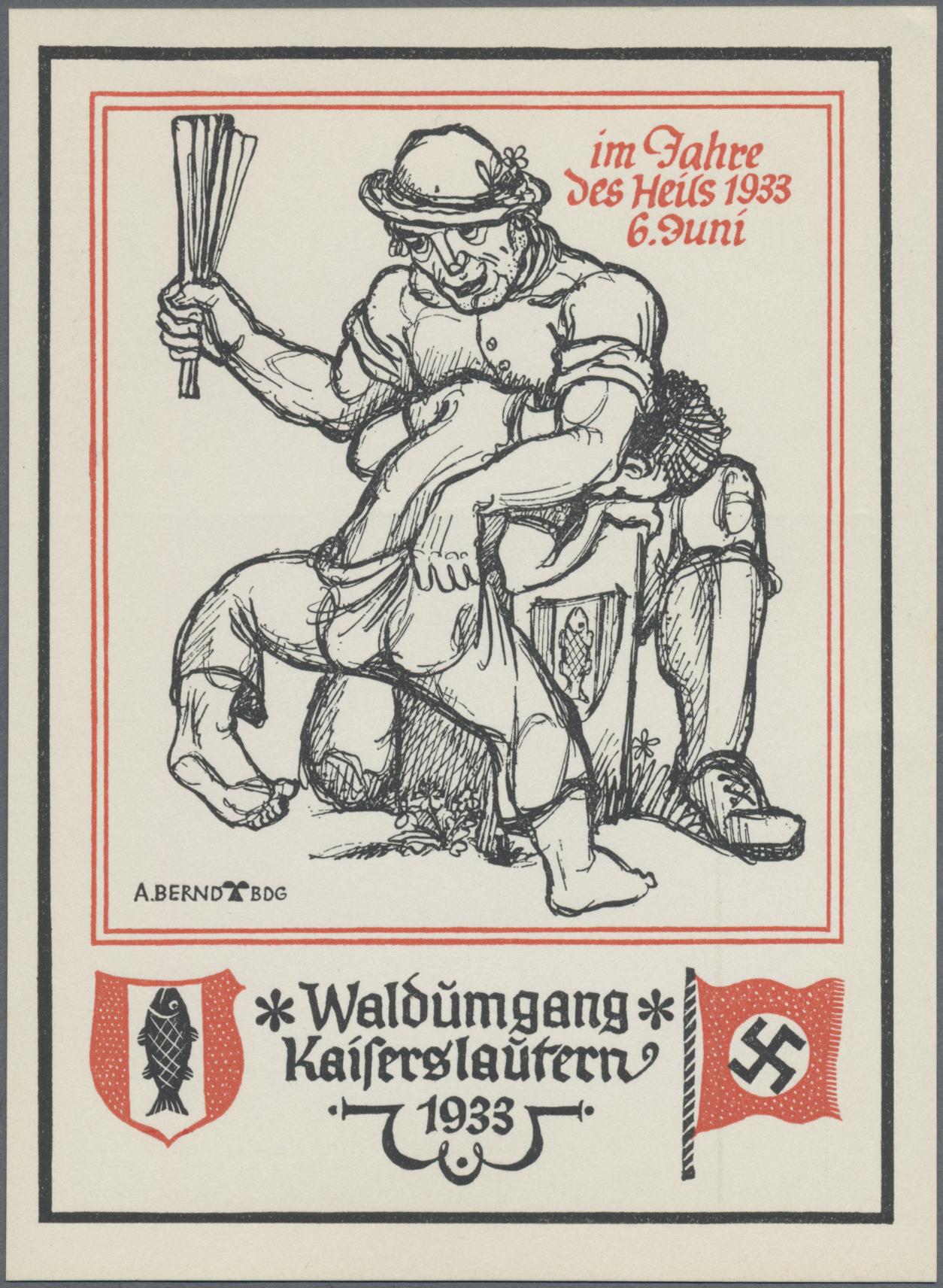 Lot 18179 - Ansichtskarten: Propaganda  -  Auktionshaus Christoph Gärtner GmbH & Co. KG Sale #46 Single lots Germany - and picture post cards