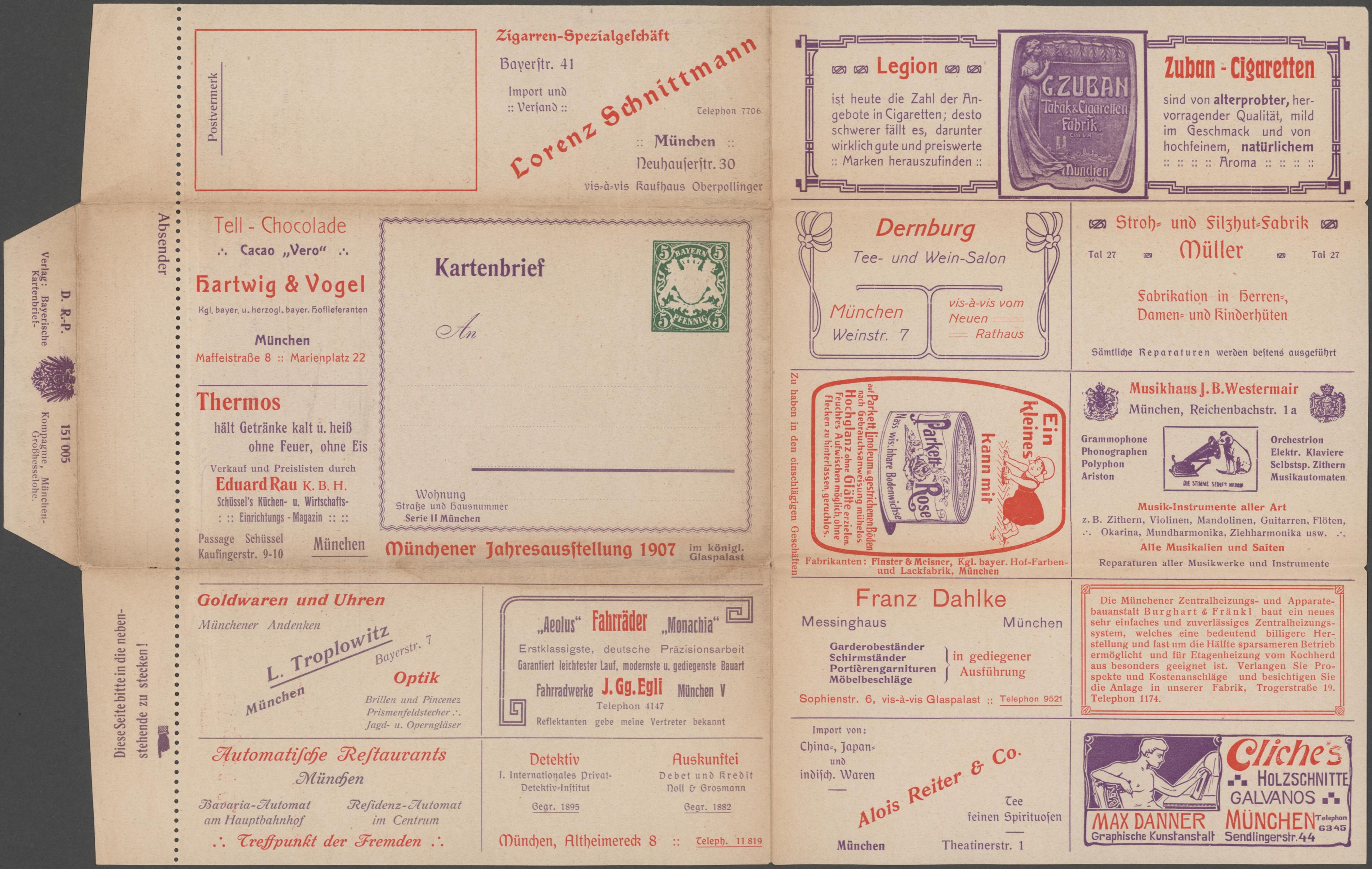 Lot 11346 - thematik: anzeigenganzsachen / advertising postal stationery  -  Auktionshaus Christoph Gärtner GmbH & Co. KG Sale #47 Single lots: Asia, Thematics, Overseas, Europe