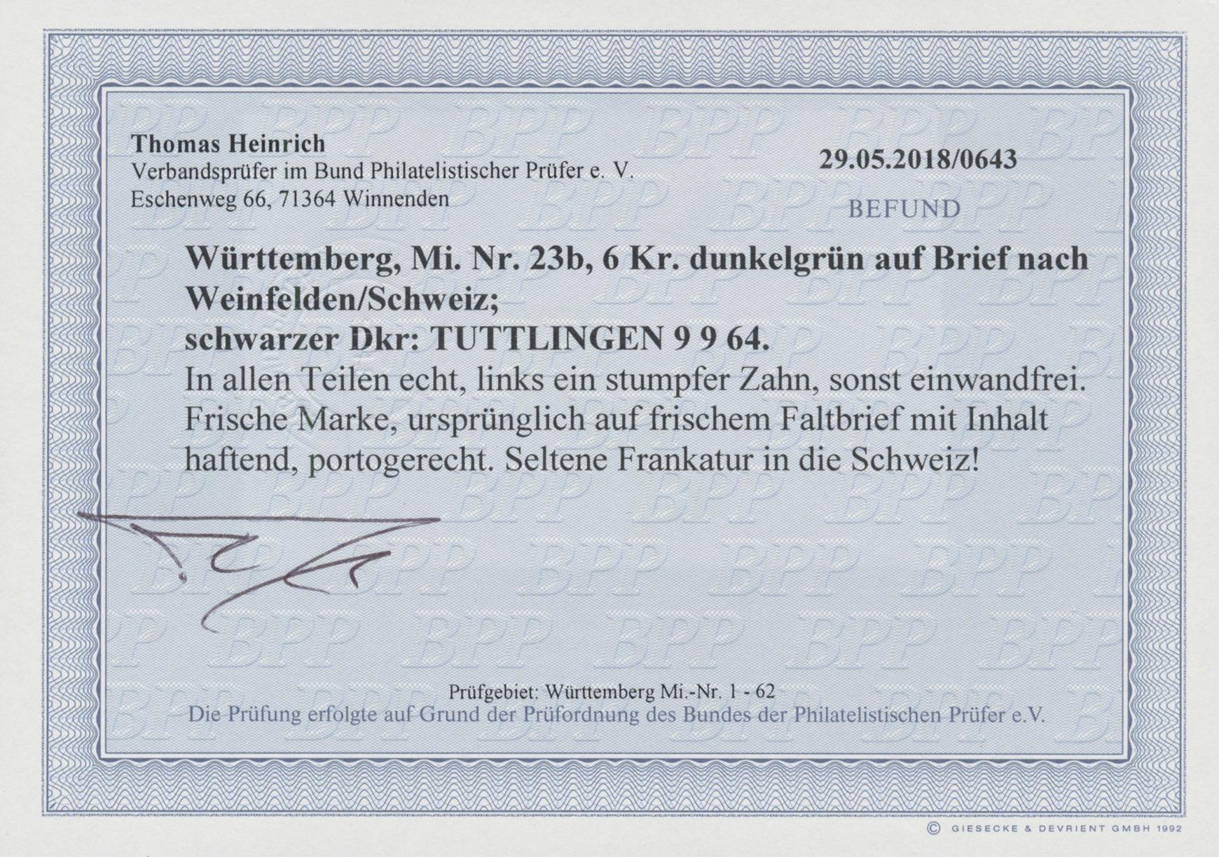 Coin Auction Württemberg Marken Und Briefe Auction 41 Special