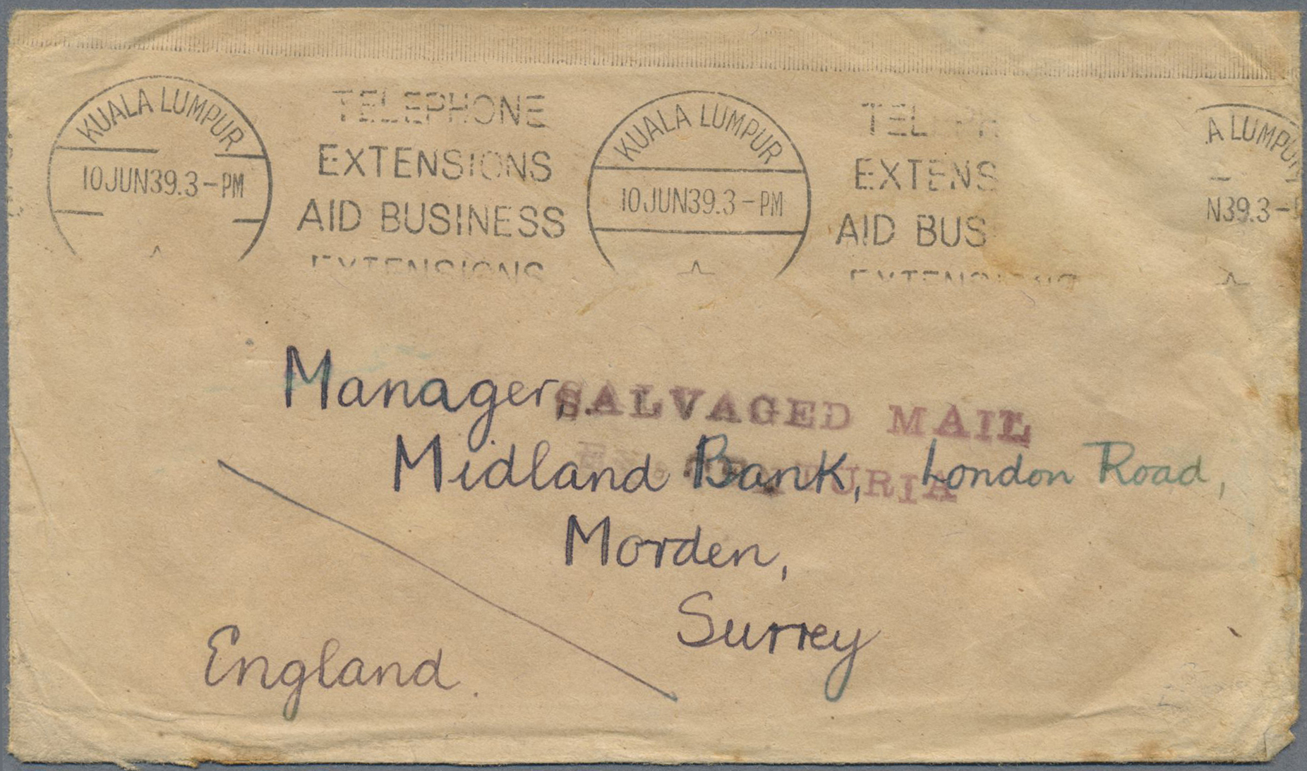 Stamp Auction - Malaiische Staaten - Selangor - Philately
