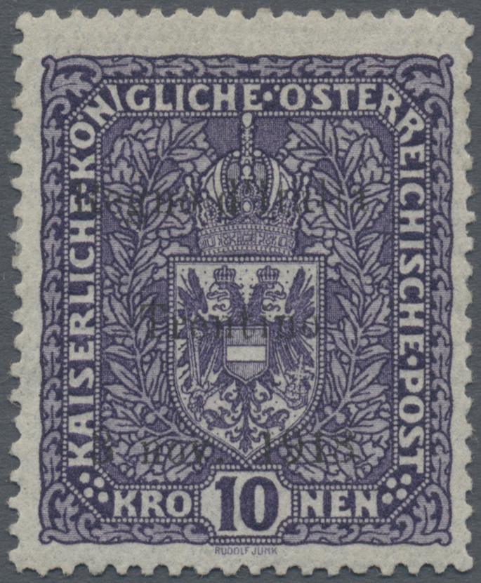 Lot 1010 - Italienische Besetzung 1918/23 - Trentino  -  Auktionshaus Christoph Gärtner GmbH & Co. KG Auction #41 Special auction part one