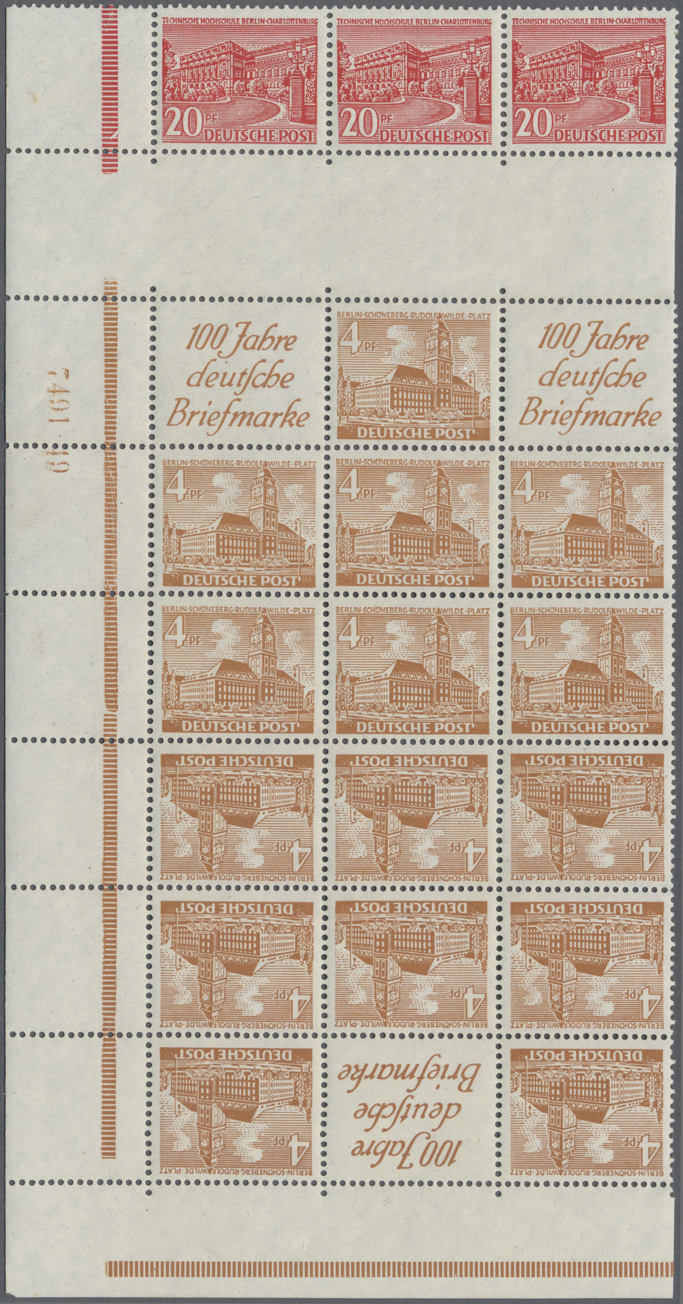 Lot 24295 - berlin - zusammendrucke  -  Auktionshaus Christoph Gärtner GmbH & Co. KG 50th Auction Anniversary Auction - Day 7
