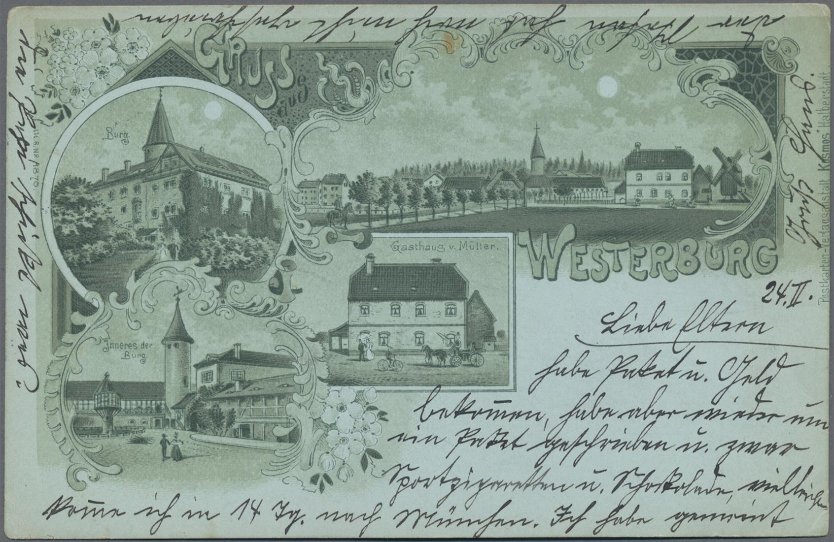 Lot 04602 - Ansichtskarten: Sachsen-Anhalt  -  Auktionshaus Christoph Gärtner GmbH & Co. KG Sale #48 The Coins & The Picture Post Cards