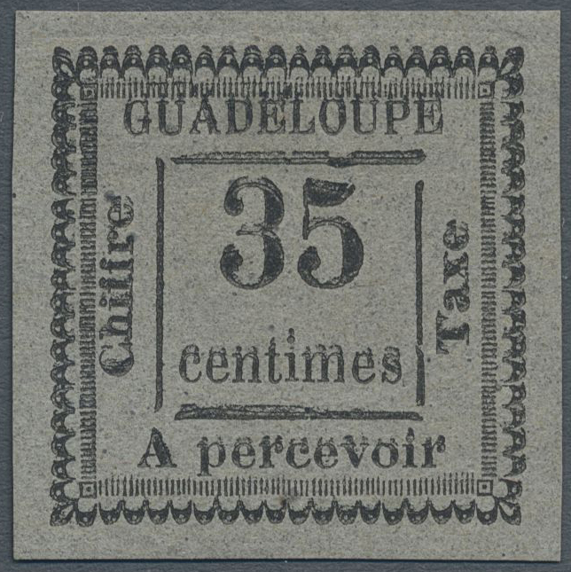 Lot 13815 - Guadeloupe - Portomarken  -  Auktionshaus Christoph Gärtner GmbH & Co. KG Single lots Philately Overseas & Europe. Auction #39 Day 4