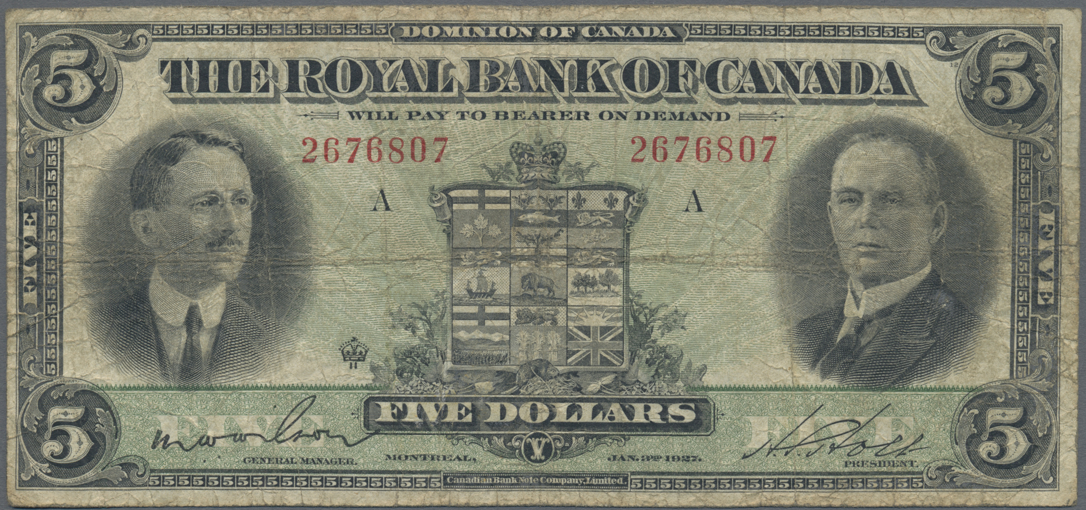 Lot 00105 - Canada | Banknoten  -  Auktionshaus Christoph Gärtner GmbH & Co. KG Sale #48 The Banknotes