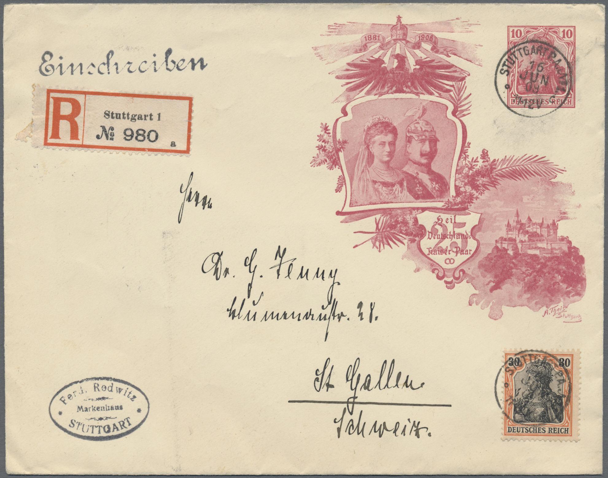 Lot 36831 - Deutsches Reich - Ganzsachen  -  Auktionshaus Christoph Gärtner GmbH & Co. KG Sale #44 Collections Germany