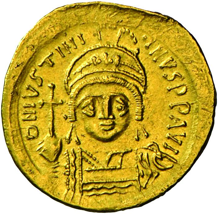 Lot 4017 - Iustinianus I. (527 - 565) | Antike - Byzanz  -  Auktionshaus Christoph Gärtner GmbH & Co. KG Banknotes & Coins Auction #39 Day 2