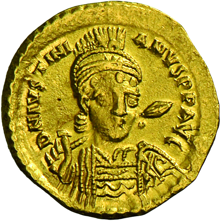 Lot 4016 - Iustinianus I. (527 - 565) | Antike - Byzanz  -  Auktionshaus Christoph Gärtner GmbH & Co. KG Banknotes & Coins Auction #39 Day 2
