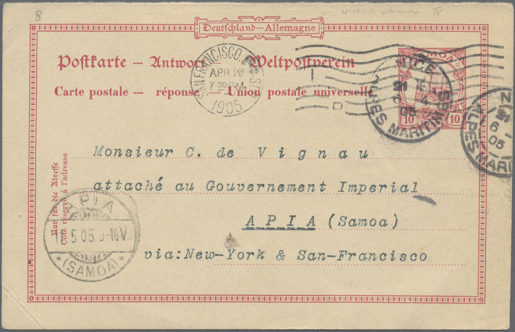 Lot 22887 - Deutsche Kolonien - Samoa - Ganzsachen  -  Auktionshaus Christoph Gärtner GmbH & Co. KG Sale #44 Germany, Picture Post cards
