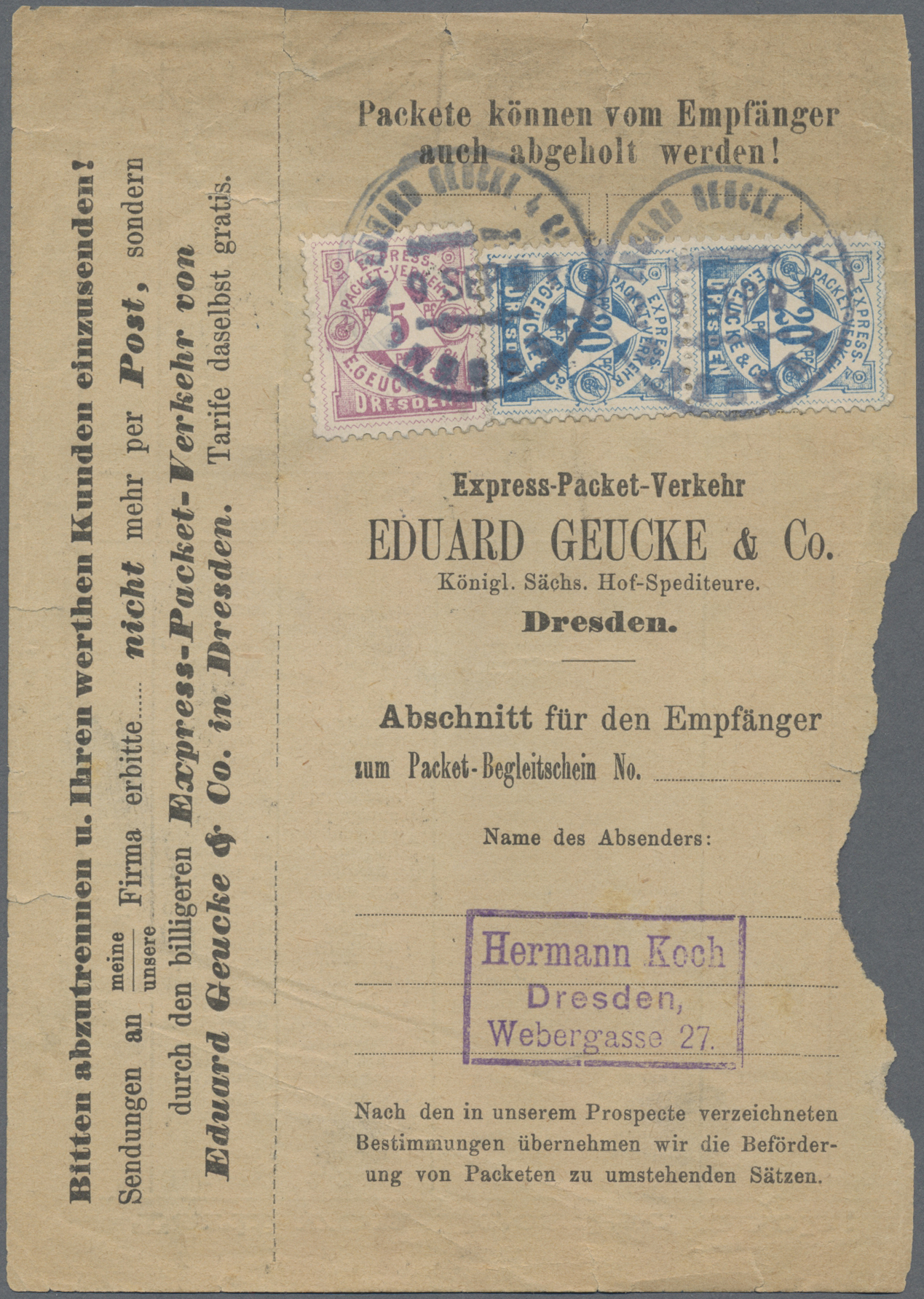 Lot 11205 - Deutsches Reich - Privatpost (Stadtpost)  -  Auktionshaus Christoph Gärtner GmbH & Co. KG Sale #48 The Single Lots Philatelie