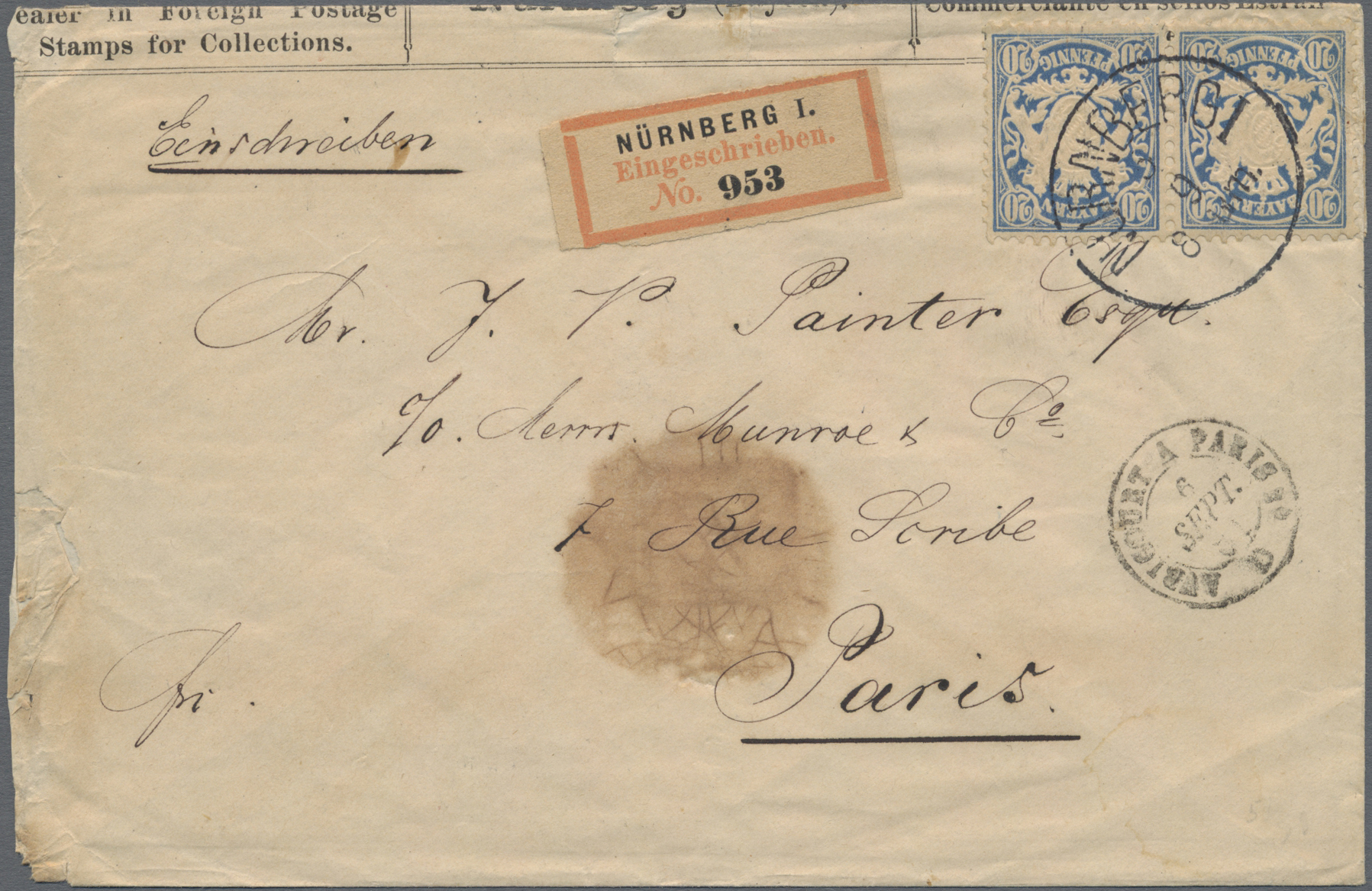 Lot 13584 - Bayern - Marken und Briefe  -  Auktionshaus Christoph Gärtner GmbH & Co. KG Sale #46 Single lots Germany - and picture post cards