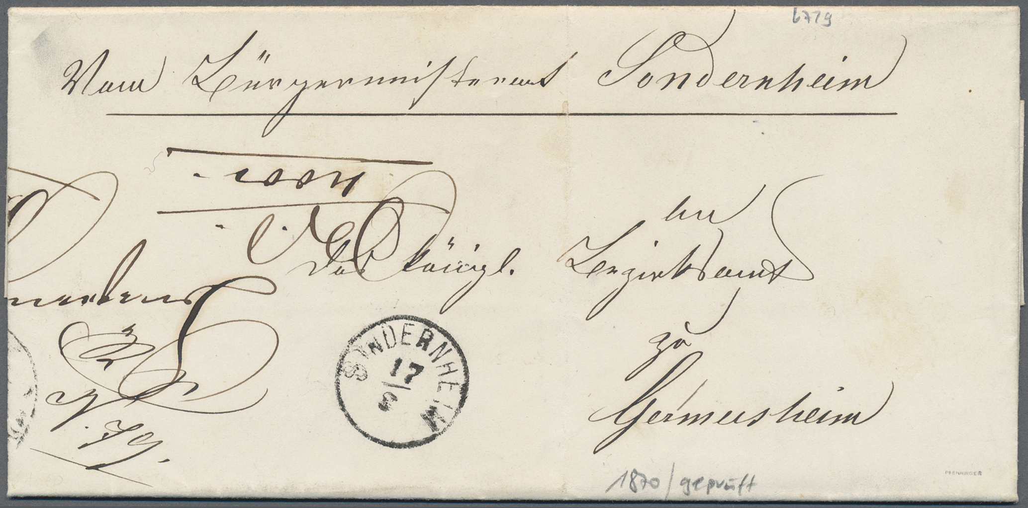 Lot 36218 - Bayern - Ortsstempel  -  Auktionshaus Christoph Gärtner GmbH & Co. KG Sale #44 Collections Germany