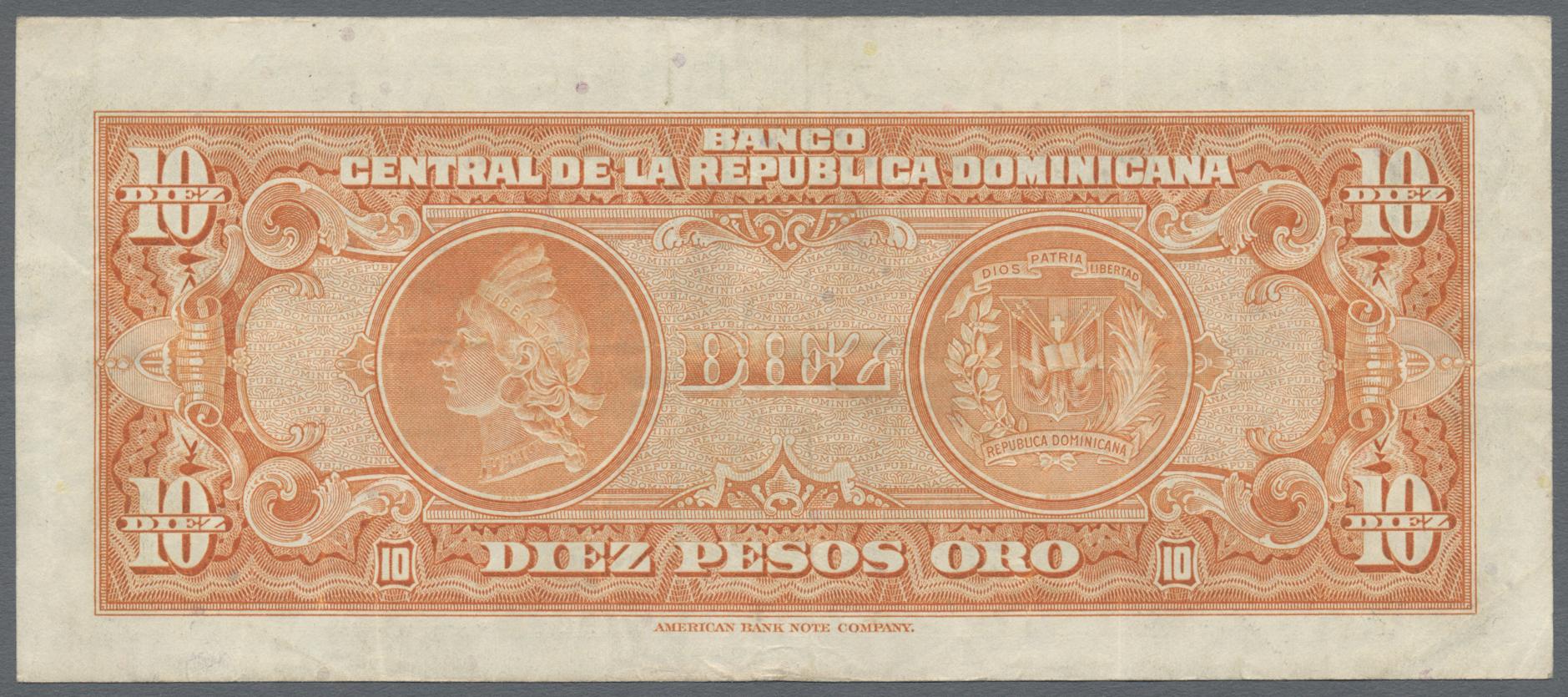 Lot 8352 - Dominican Republic / Dominikanische Republik banknoten -  Auktionshaus Christoph Gärtner GmbH & Co. KG Sale #47 Banknotes Worldwide & Germany, Numismatics