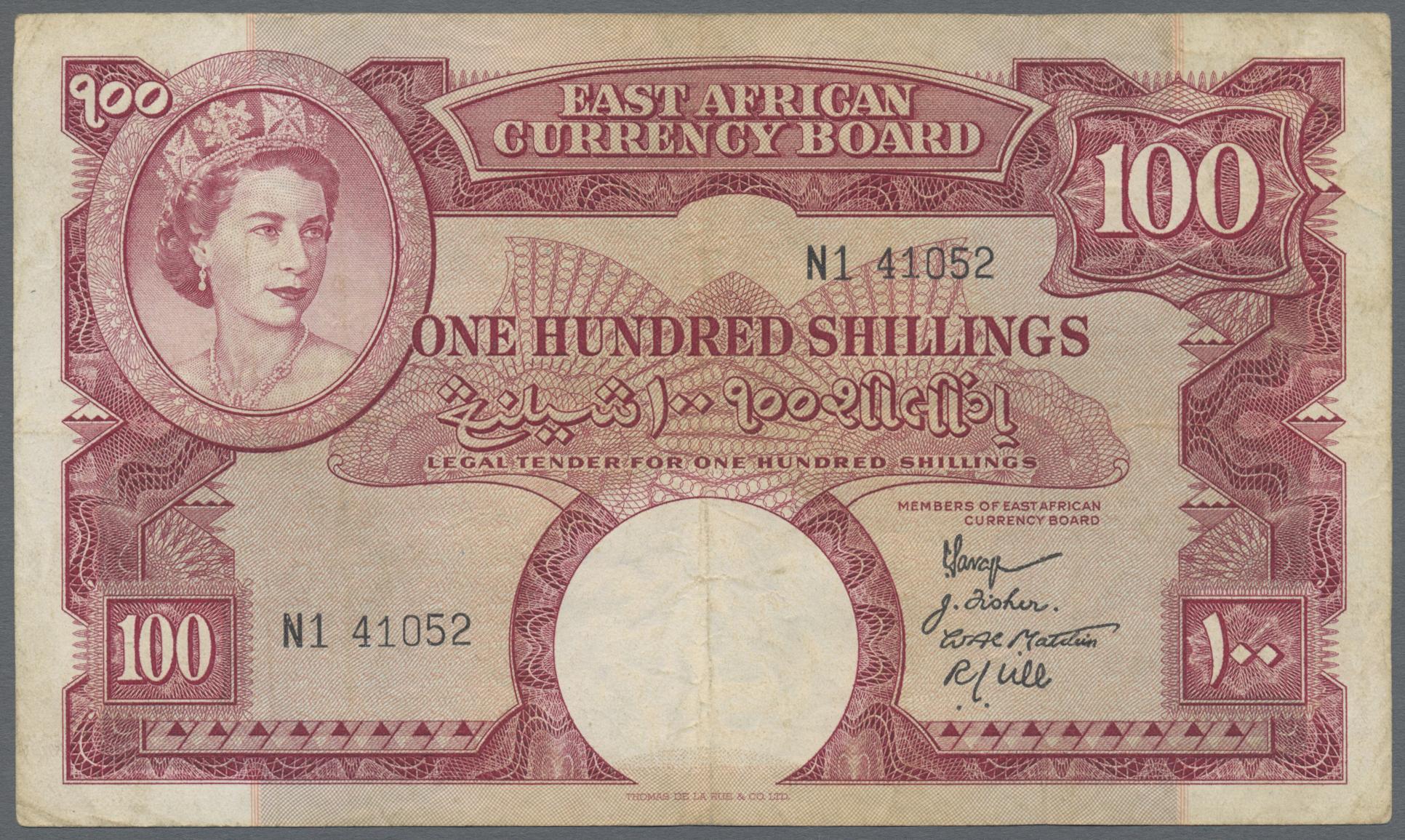 Lot 00185 - East Africa / Ost-Afrika| Banknoten  -  Auktionshaus Christoph Gärtner GmbH & Co. KG Sale #48 The Banknotes