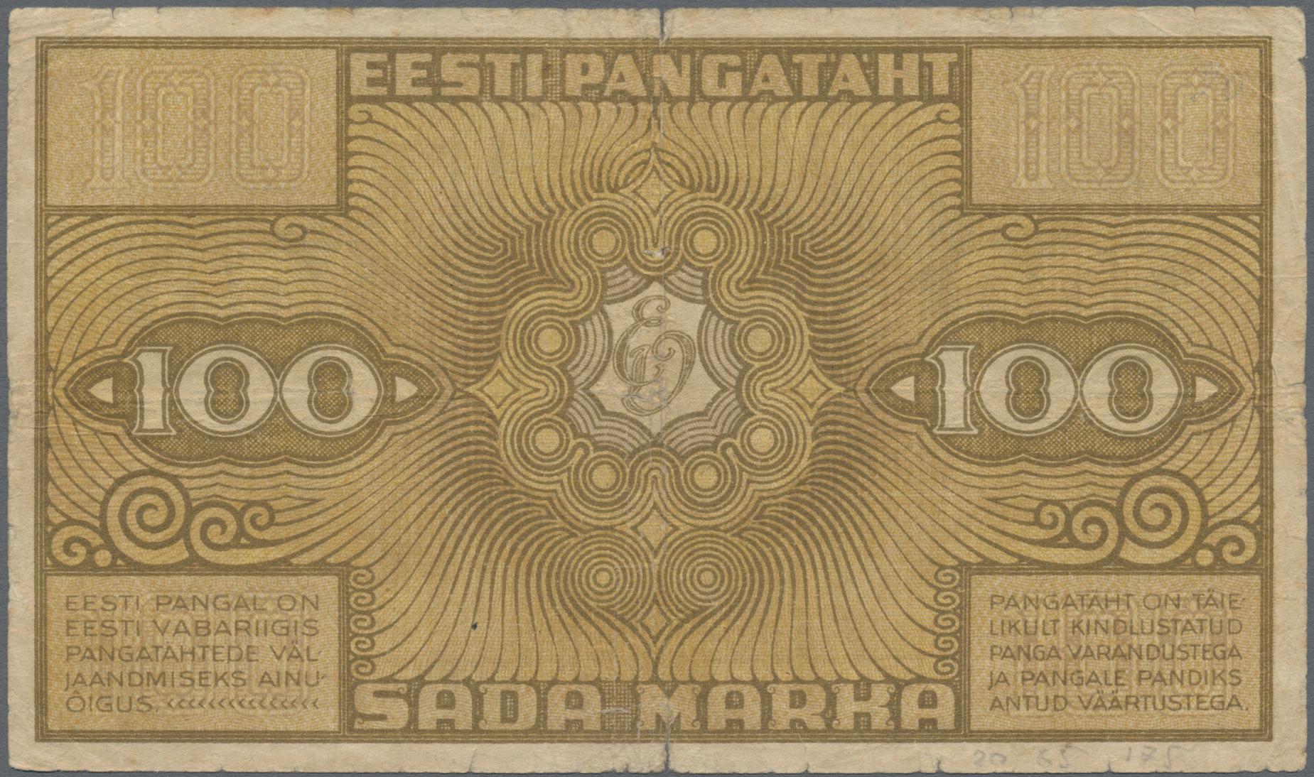 Lot 00232 - Estonia / Estland | Banknoten  -  Auktionshaus Christoph Gärtner GmbH & Co. KG Sale #48 The Banknotes
