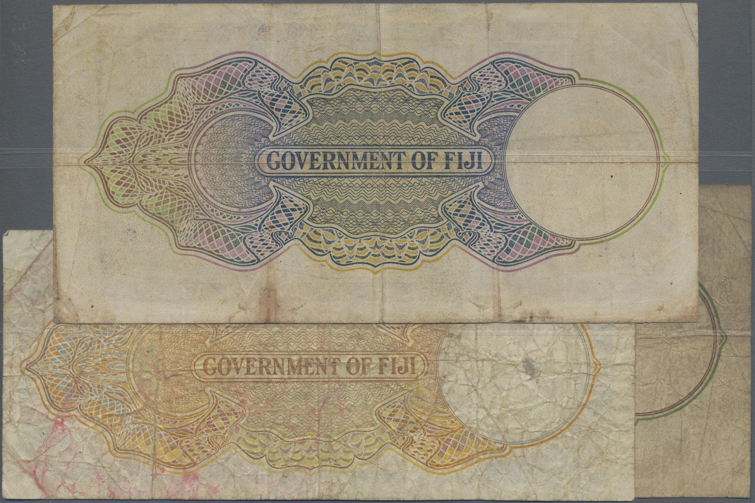 Lot 00241 - Fiji | Banknoten  -  Auktionshaus Christoph Gärtner GmbH & Co. KG Sale #48 The Banknotes