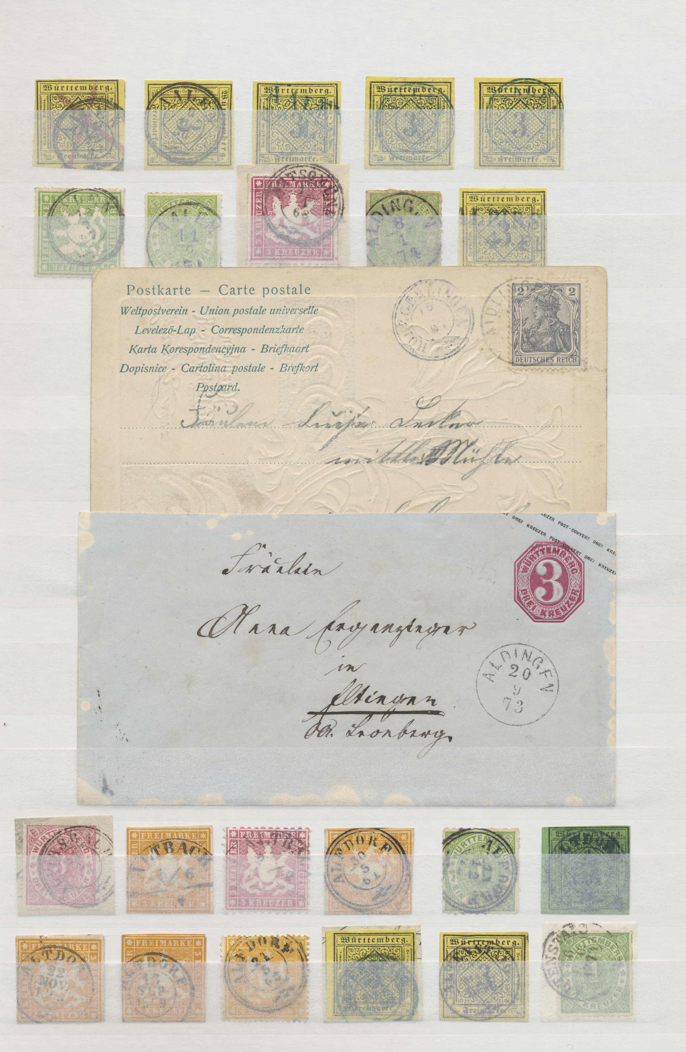 Lot 36356 - württemberg - stempel  -  Auktionshaus Christoph Gärtner GmbH & Co. KG Sale #44 Collections Germany