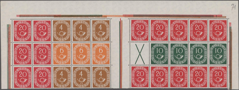 Lot 18042 - Bundesrepublik - Markenheftchenbogen  -  Auktionshaus Christoph Gärtner GmbH & Co. KG Sale #47 Single lots: Germany, Picture Postcards