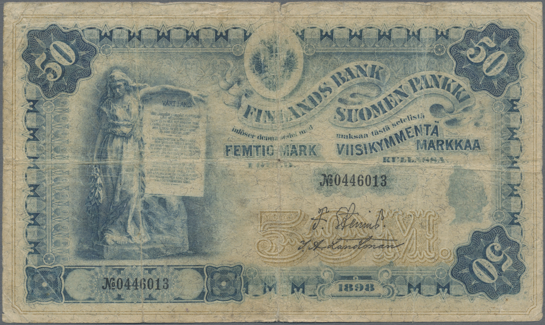 Lot 00250 - Finland / Finnland | Banknoten  -  Auktionshaus Christoph Gärtner GmbH & Co. KG Sale #48 The Banknotes