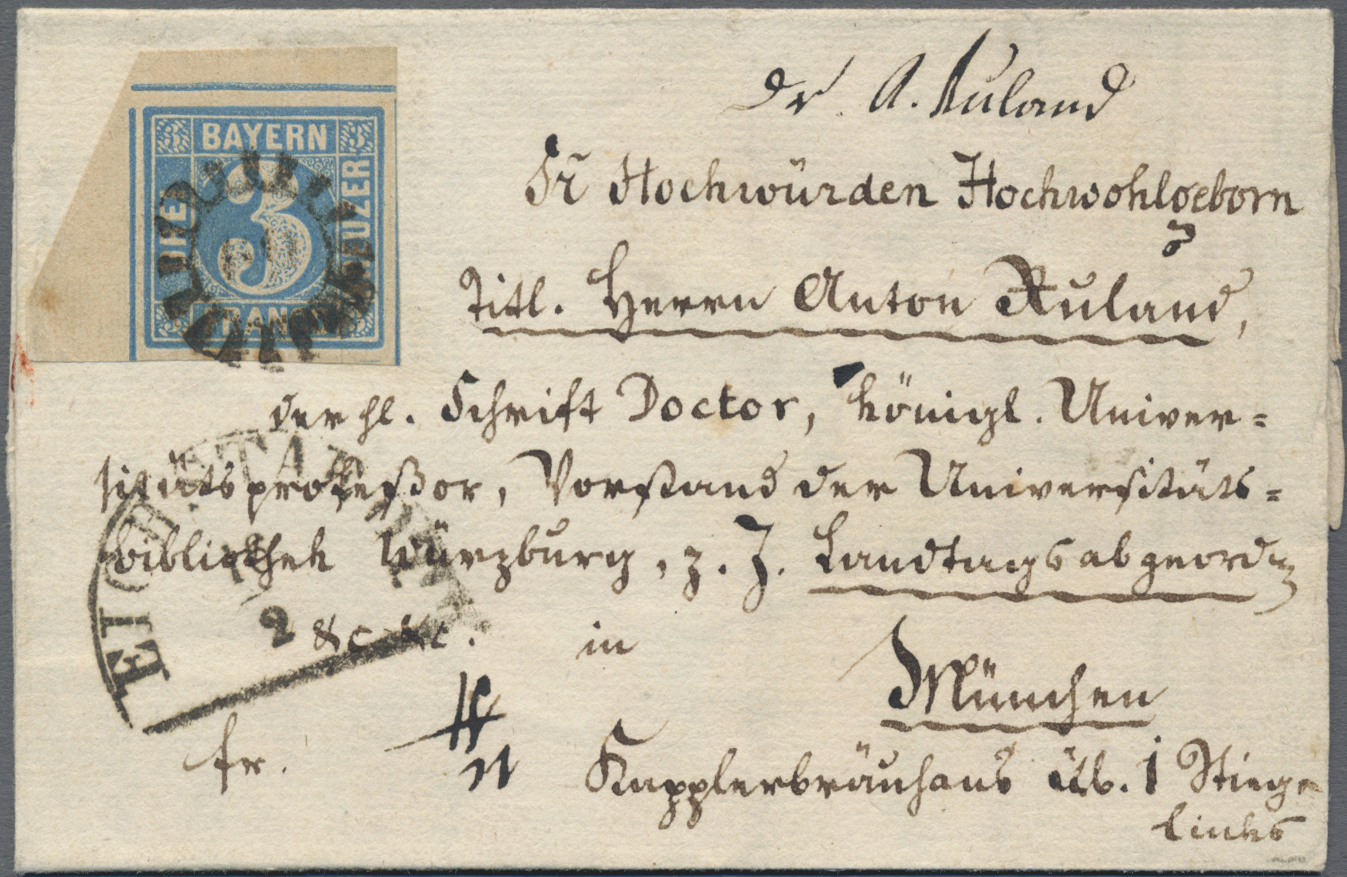 Lot 02517 - Bayern - Social Philately  -  Auktionshaus Christoph Gärtner GmbH & Co. KG 50th Auction Anniversary Auction - Day 7