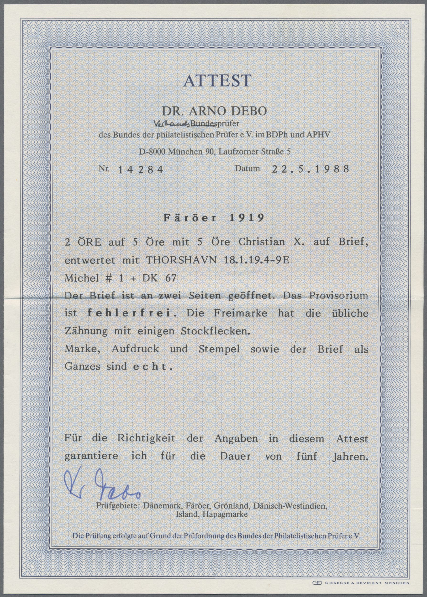 Lot 08681 - Dänemark - Färöer  -  Auktionshaus Christoph Gärtner GmbH & Co. KG 50th Auction Anniversary Auction - Day 3
